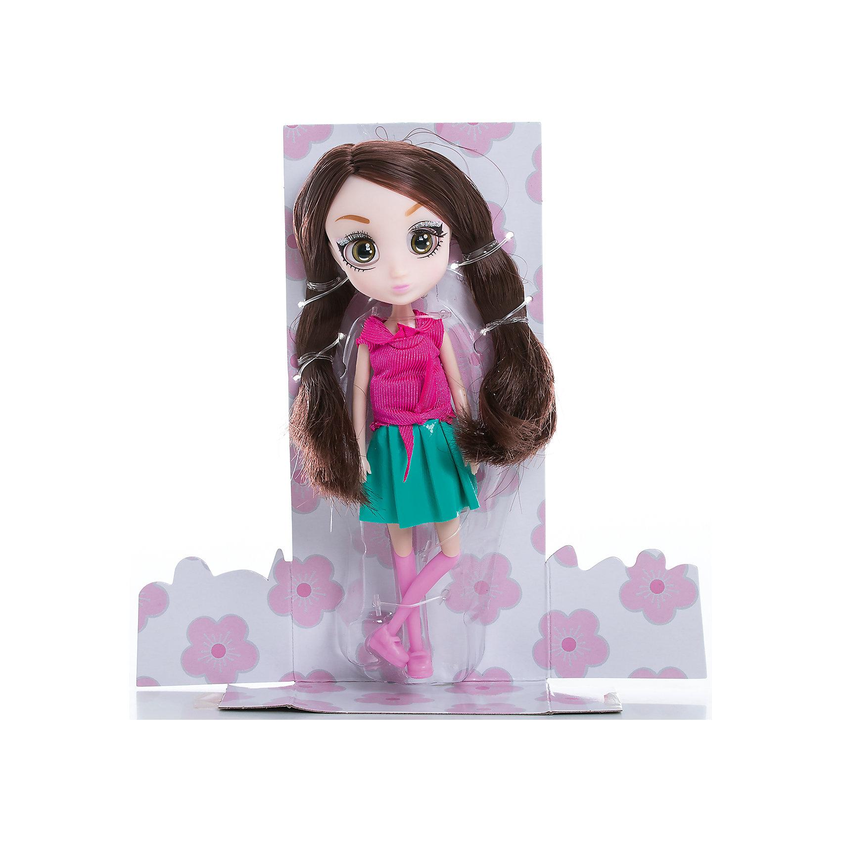 Кукла Намика, 15 см, Шибадзуку ГерлзМини-куклы<br>Характеристики товара:<br><br>• возраст: от 3 лет;<br>• материал: пластик,текстиль;<br>•высота куклы: 15 см;<br>•в комплекте : кукла,аксессуары;<br>• размер упаковки: 5х8х17 см;<br>• вес упаковки: 87 гр.;<br>• страна обладатель бренда: Австралия;<br>• бренд: Hunter Products. <br><br>Представляем Вашему вниманию куклу Намика. Ее главная страсть - наука, особенно астрономия. Она обожает подолгу наблюдать за звездным небом, а ее заветная мечта - стать исследователем. На этот раз Намика одета в розовую кофточку, которая завязывается на поясе, бирюзовую юбку, розовые гетры и ботиночки. <br><br>А еще у куклы яркий макияж и длинные каштановые волосы. Девочка сможет сделать очень много необычных причесок для любимой игрушки. <br><br>У куклы подвижная голова, руки и ноги. Руки без шарниров, а вот ноги сгибаются в бедре, прокручиваются и сгибаются в колене. <br><br>Куклу Намика,15 см  можно приобрести в нашем интернет-магазине.<br><br>Ширина мм: 80<br>Глубина мм: 50<br>Высота мм: 170<br>Вес г: 87<br>Возраст от месяцев: 36<br>Возраст до месяцев: 2147483647<br>Пол: Женский<br>Возраст: Детский<br>SKU: 6916235