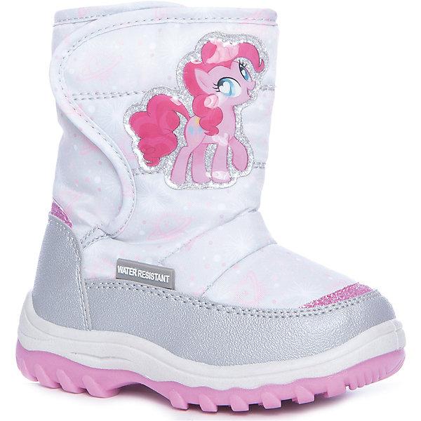 Сапоги Kakadu для девочкиMy little Pony<br>Характеристики товара:<br><br>• цвет: серый<br>• материал верха: искусственная кожа, текстиль<br>• подклад: натуральная шерсть<br>• стелька: натуральная шерсть<br>• подошва: ПВХ<br>• сезон: зима<br>• температурный режим: от 0 до -20<br>• застежка: липучка<br>• подошва не скользит <br>• водоотталкивающая пропитка<br>• съемная стелька<br>• анатомические<br>• страна бренда: Российская Федерация<br>• страна изготовитель: Китай<br><br>Яркие зимние сапоги для девочки Kakadu позволяют сохранить ноги в тепле и избежать их промокания благодаря водоотталкивающей пропитке. Высокое голенище защищает от попадания снега внутрь. <br><br>Сапоги декорированы аппликацией с героиней мультфильма My Little Pony. Износостойкая устойчивая подошва обеспечивает удобство, теплая съемная стелька легко просушивается.<br><br>Сапоги для девочки Kakadu (Какаду) можно купить в нашем интернет-магазине.<br>Ширина мм: 257; Глубина мм: 180; Высота мм: 130; Вес г: 420; Цвет: серый; Возраст от месяцев: 24; Возраст до месяцев: 36; Пол: Женский; Возраст: Детский; Размер: 26,25,30,29,28,27,24; SKU: 6918206;