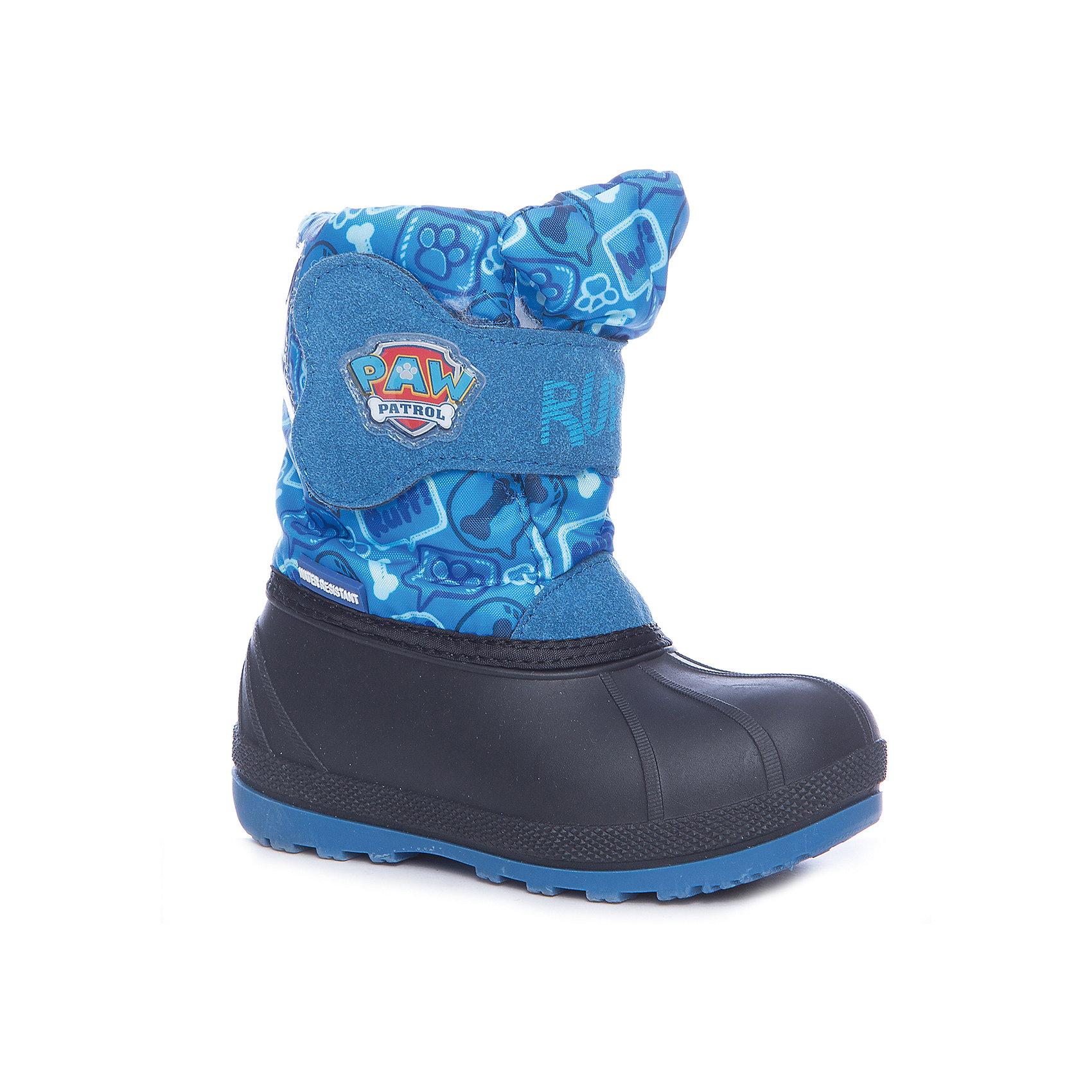Сноубутсы Kakadu для мальчикаСноубутсы<br>Характеристики товара:<br><br>• цвет: синий<br>• материал верха: искусственная кожа, текстиль<br>• подклад: натуральная шерсть<br>• стелька: натуральная шерсть<br>• подошва: ТПР<br>• сезон: зима<br>• температурный режим: от 0 до -20<br>• застежка: липучка<br>• подошва не скользит <br>• непромокаемые<br>• съемная стелька<br>• анатомические<br>• страна бренда: Российская Федерация<br>• страна изготовитель: Китай<br><br>Зимние сапоги для мальчика Kakadu позволяют сохранить ноги в тепле и избежать их промокания. Высокое голенище защищает от попадания снега внутрь. <br><br>Сапоги декорированы аппликацией с героем мультфильма «Щенячий патруль». Износостойкая устойчивая подошва обеспечивает удобство, теплая съемная стелька легко просушивается.<br><br>Сапоги для мальчика Kakadu (Какаду) можно купить в нашем интернет-магазине.<br><br>Ширина мм: 257<br>Глубина мм: 180<br>Высота мм: 130<br>Вес г: 420<br>Цвет: синий<br>Возраст от месяцев: 72<br>Возраст до месяцев: 84<br>Пол: Мужской<br>Возраст: Детский<br>Размер: 30,25,26,27,28,29<br>SKU: 6918338