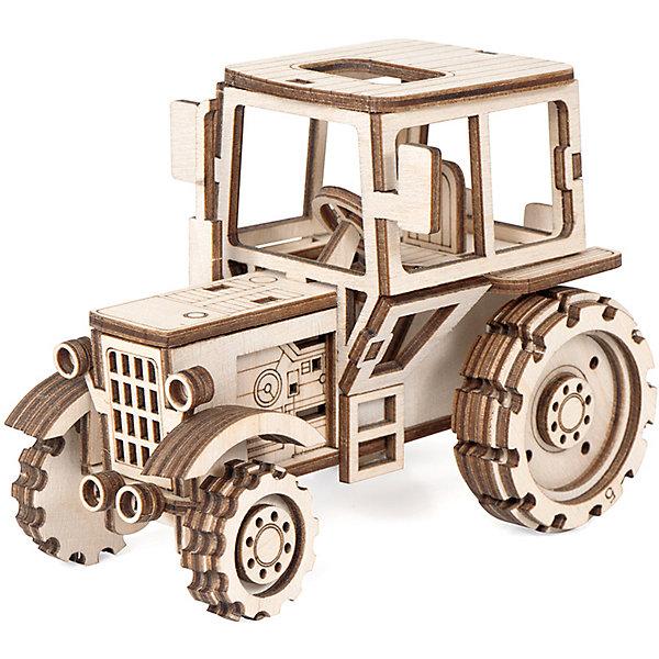 Деревянный  3D конструктор подвижный Трактор, LemmoДеревянные модели<br>Характеристики товара:<br><br>• количество деталей: 69;<br>• в комплекте: детали, клей ПВА, наждачная бумага, инструкция;<br>• материал: дерево;<br>• размер упаковки: 9х7х12,5 см;<br>• вес: 130 грамм;<br>• возраст: от 5 лет.<br>• страна производства: Россия<br><br>Деревянный 3D конструктор «Трактор» отлично подойдет мальчикам, любящим игры со строительной техникой. Из конструктора можно собрать маленькую копию настоящего трактора. Готовая фигурка имеет подвижные колеса, поэтому после сборки ребенок сможет поиграть на своей строительной площадке.<br><br>В комплект входят 69 деталей, клей ПВА, наждачная бумага и наглядная инструкция. Детали изготовлены из качественного дерева и имеют приятный насыщенный запах. Игра с 3D конструктором способствует развитию моторики рук, предметного моделирования, пространственного и логического мышления. Фигурку трактора можно раскрасить.<br><br>Деревянный  3D конструктор подвижный Трактор, Lemmo (Леммо) можно купить в нашем интернет-магазине.<br><br>Ширина мм: 125<br>Глубина мм: 70<br>Высота мм: 90<br>Вес г: 130<br>Возраст от месяцев: 60<br>Возраст до месяцев: 2147483647<br>Пол: Мужской<br>Возраст: Детский<br>SKU: 6918927