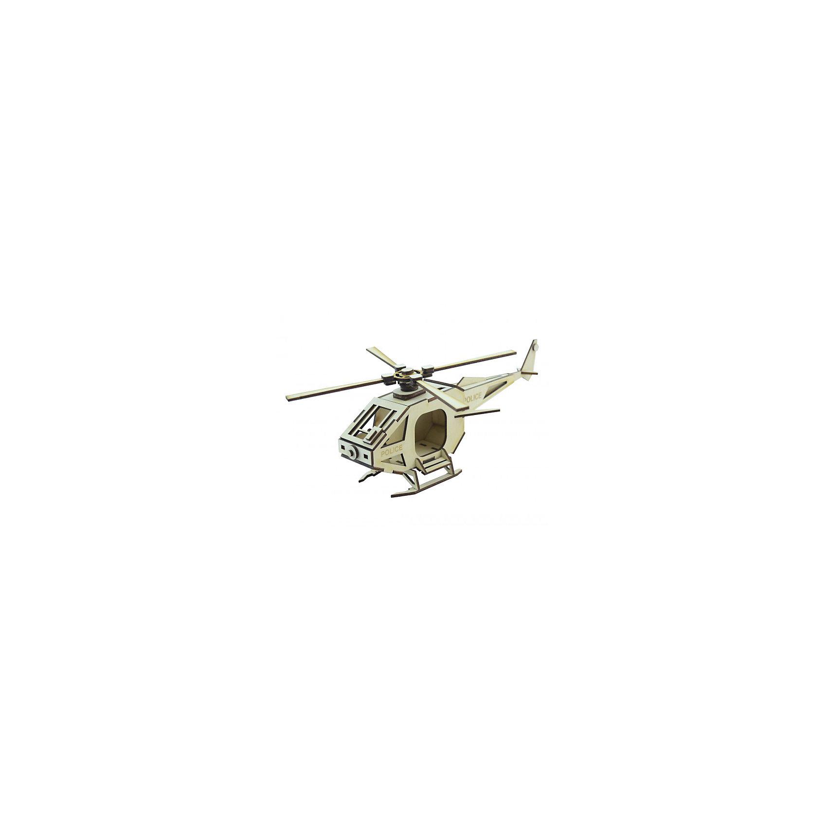 Деревянный  3D конструктор подвижный Вертолет Полиция, LemmoДеревянные модели<br>Характеристики товара:<br><br>• количество деталей: 47;<br>• в комплекте: детали, клей ПВА, наждачная бумага, инструкция;<br>• материал: дерево;<br>• размер упаковки: 11х22х27,5 см;<br>• вес: 150 грамм;<br>• возраст: от 5 лет.<br>• страна производства: Россия<br><br>Из деревянного 3D конструктора Lemmo юный строитель сможет самостоятельно собрать новую игрушку - полицейский вертолет. В набор входят 47 деталей для сборки, наждачная бумага, клей ПВА и инструкция. Детали изготовлены из экологически чистой древесины и отличаются приятным древесным запахом.<br><br>Готовая фигурка вертолета имеет подвижные детали, благодаря чему игры ребенка станут интереснее и разнообразнее. Игрушку можно окрасить гуашью или акриловыми красками. Игра с 3D конструктором хорошо развивает предметное моделирование, пространственное мышление, моторику рук и усидчивость.<br><br>Деревянный  3D конструктор подвижный Вертолет Полиция, Lemmo (Леммо) можно купить в нашем интернет-магазине.<br><br>Ширина мм: 275<br>Глубина мм: 220<br>Высота мм: 110<br>Вес г: 150<br>Возраст от месяцев: 60<br>Возраст до месяцев: 2147483647<br>Пол: Унисекс<br>Возраст: Детский<br>SKU: 6918928