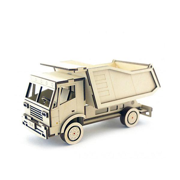 Деревянный  3D конструктор подвижный Грузовик Самосвал, LemmoДеревянные конструкторы<br>Характеристики товара:<br><br>• количество деталей: 81;<br>• в комплекте: детали, клей ПВА, наждачная бумага, инструкция;<br>• материал: дерево;<br>• размер упаковки: 11х10,5х23,5см;<br>• вес: 310 грамм;<br>• возраст: от 5 лет.<br>• страна производства: Россия<br><br>Из деревянного конструктора Lemmo ребенок сможет самостоятельно собрать самосвал для своей строительной площадки. Колеса самосвала крутятся, а кузов откидывается назад. Готовую фигурку можно раскрасить гуашью или акриловыми красками.<br><br>В набор входят 81 деталь для сборки, клей ПВА, инструкция и наждачная бумага. Детали изготовлены из качественной, экологически чистой древесины с насыщенным древесным запахом. Игра с 3D конструктором помогает развить предметное моделирование, моторику рук, пространственное, логическое мышление и усидчивость. Конструктор подходит для детей от пяти лет.<br><br>Деревянный  3D конструктор подвижный Грузовик Самосвал, Lemmo (Леммо) можно купить в нашем интернет-магазине.<br><br>Ширина мм: 235<br>Глубина мм: 105<br>Высота мм: 110<br>Вес г: 310<br>Возраст от месяцев: 60<br>Возраст до месяцев: 2147483647<br>Пол: Мужской<br>Возраст: Детский<br>SKU: 6918930