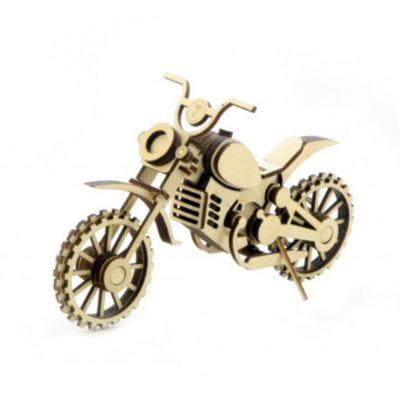 Деревянный 3D Конструктор Подвижный Мотоцикл Кросс , Lemmo