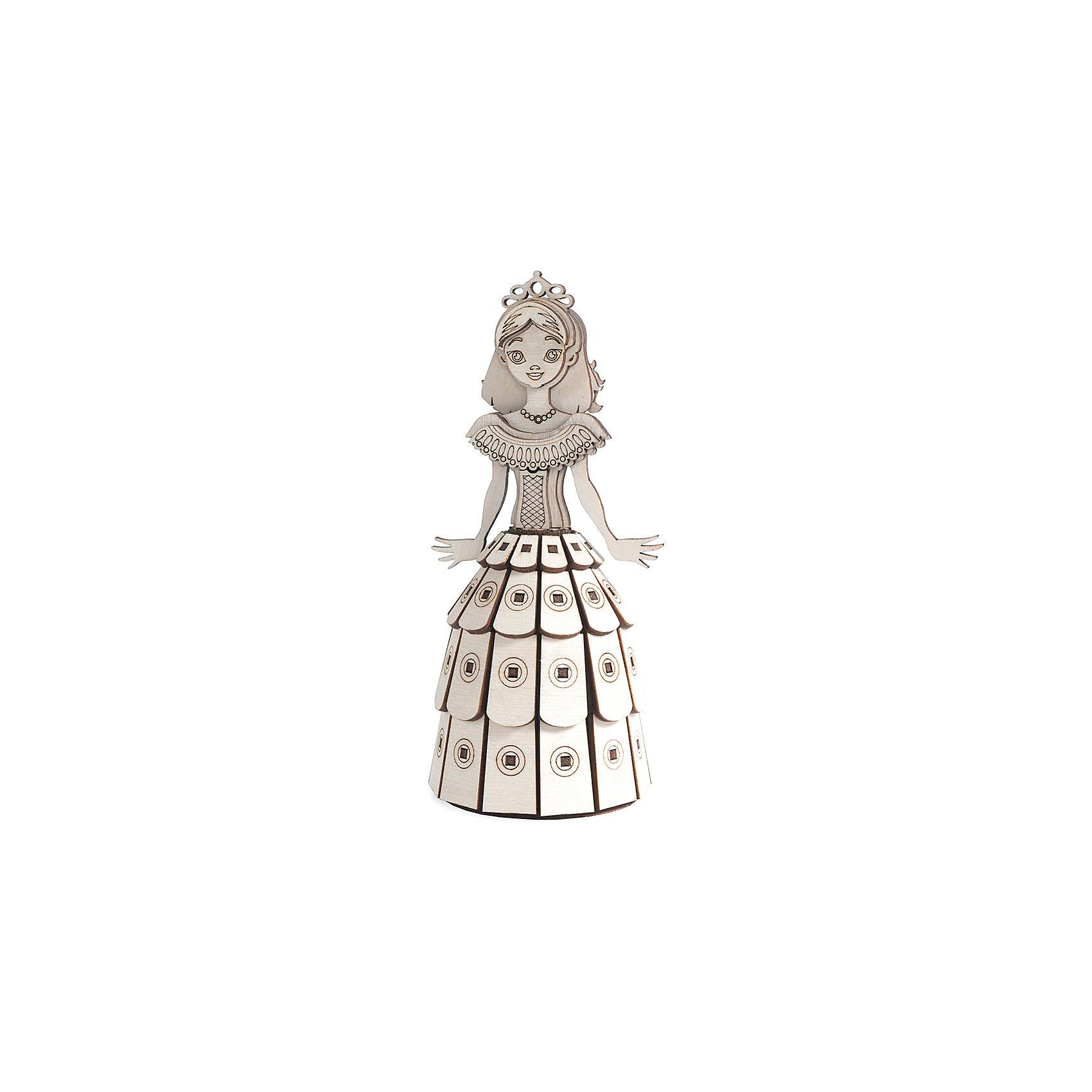 Деревянный  3D конструктор подвижный Принцесса, LemmoДеревянные конструкторы<br>Характеристики товара:<br><br>• количество деталей: 79;<br>• в комплекте: детали, клей ПВА, наждачная бумага, инструкция;<br>• материал: дерево;<br>• размер упаковки: 18х8х7,5 см;<br>• вес: 100 грамм;<br>• возраст: от 5 лет.<br>• страна производства: Россия<br><br>Деревянный 3D конструктор «Принцесса» предназначен для детей от пяти лет. Игра с конструктором способствует развитию пространственного и логического мышления, усидчивости, предметного моделирования и моторики рук.<br><br>В набор входят 79 деталей из качественной древесины, клей ПВА, инструкция и наждачная бумага. Склеив детали, ребенок сможет играть с новой игрушкой - фигуркой принцессы. Руки принцессы вращаются, что поможет разнообразить игру. Готовая фигурка подходит для окрашивания гуашью и акриловыми красками.<br><br>Деревянный  3D конструктор подвижный Принцесса, Lemmo (Леммо) можно купить в нашем интернет-магазине.<br><br>Ширина мм: 75<br>Глубина мм: 80<br>Высота мм: 180<br>Вес г: 100<br>Возраст от месяцев: 60<br>Возраст до месяцев: 2147483647<br>Пол: Женский<br>Возраст: Детский<br>SKU: 6918936
