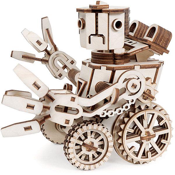 Деревянный  3D конструктор подвижный Робот Макс, LemmoДеревянные конструкторы<br>Характеристики товара:<br><br>• количество деталей: 134;<br>• в комплекте: детали, клей ПВА, наждачная бумага, инструкция;<br>• материал: дерево;<br>• размер упаковки: 16х15х13,5 см;<br>• вес: 780 грамм;<br>• возраст: от 5 лет.<br>• страна производства: Россия<br><br>Робот Макс - прекрасная фигурка, которую ребенок сможет собрать из деревянного 3D конструктора Lemmo. Его голова может вращаться на 360 градусов, а крутящиеся колеса приводят руки в движение. Кроме того, фигурка подходит для раскрашивания гуашью и акварелью.<br><br>Помимо деталей для сборки,  в набор входят клей, наждачная бумага и наглядная инструкция. Детали выполнены из экологически чистой древесины. Занятия с 3D конструктором хорошо развивают предметное моделирование, логику, пространственное мышление, усидчивость и моторику рук. Набор предназначен для детей от пяти лет.<br><br>Деревянный  3D конструктор подвижный Робот Макс, Lemmo (Леммо) можно купить в нашем интернет-магазине.<br>Ширина мм: 220; Глубина мм: 145; Высота мм: 35; Вес г: 480; Возраст от месяцев: 60; Возраст до месяцев: 2147483647; Пол: Унисекс; Возраст: Детский; SKU: 6918938;
