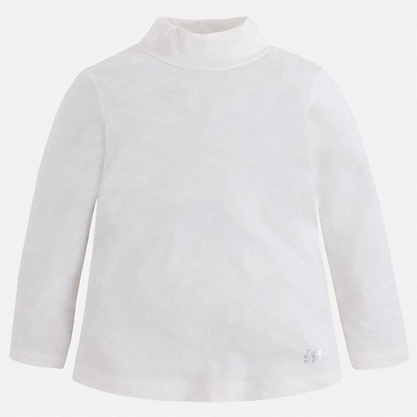 Водолзка Mayoral для девочкиВодолазки<br>Характеристики товара:<br><br>• цвет: белый<br>• состав ткани: 95% вискоза, 5% эластан<br>• сезон: демисезон<br>• особенности: однотонная<br>• высокий ворот<br>• длинные рукава<br>• страна бренда: Испания<br>• страна изготовитель: Индия<br><br>Белая водолазка для девочки от бренда Mayoral создана специально для детей. Однотонная детская водолазка с длинным рукавом сделана из эластичной ткани. Детская водолазка комфортно сидит и аккуратно смотрится. Эта водолазка для девочки - базовая вещь гардероба. <br><br>Водолазку для девочки Mayoral (Майорал) можно купить в нашем интернет-магазине.<br>Ширина мм: 230; Глубина мм: 40; Высота мм: 220; Вес г: 250; Цвет: бежевый; Возраст от месяцев: 24; Возраст до месяцев: 36; Пол: Женский; Возраст: Детский; Размер: 98,134,128,122,116,110,104; SKU: 6919860;