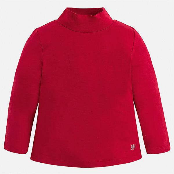 Водолазка Mayoral для девочкиВодолазки<br>Характеристики товара:<br><br>• цвет: красный<br>• состав ткани: 95% вискоза, 5% эластан<br>• сезон: демисезон<br>• особенности: однотонная<br>• высокий ворот<br>• длинные рукава<br>• страна бренда: Испания<br>• страна изготовитель: Индия<br><br>Красная водолазка с длинным рукавом для девочки от Майорал подарит ребенку комфорт. Детская водолазка с длинным рукавом отличается стильным и продуманным дизайном. В однотонной водолазке с длинным рукавом для девочки от испанской компании Майорал ребенок будет выглядеть модно, и чувствовать себя комфортно. <br><br>Водолазку для девочки Mayoral (Майорал) можно купить в нашем интернет-магазине.<br>Ширина мм: 230; Глубина мм: 40; Высота мм: 220; Вес г: 250; Цвет: красный; Возраст от месяцев: 24; Возраст до месяцев: 36; Пол: Женский; Возраст: Детский; Размер: 98,134,128,122,116,110,104; SKU: 6919876;