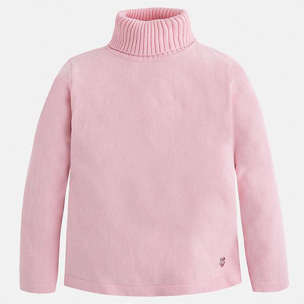 Водолазка Mayoral для девочкиВодолазки<br>Характеристики товара:<br><br>• цвет: розовый<br>• состав ткани: 80% хлопок, 17% полиамид, 3% эластан<br>• сезон: демисезон<br>• особенности: высокий ворот<br>• длинные рукава<br>• страна бренда: Испания<br>• страна изготовитель: Индия<br><br>Детский свитер сделан из дышащего приятного на ощупь материала. Благодаря продуманному крою детского свитера создаются комфортные условия для тела. Свитер с высоким воротом для девочки отличается стильным продуманным дизайном.<br><br>Свитер для девочки Mayoral (Майорал) можно купить в нашем интернет-магазине.<br><br>Ширина мм: 190<br>Глубина мм: 74<br>Высота мм: 229<br>Вес г: 236<br>Цвет: розовый<br>Возраст от месяцев: 48<br>Возраст до месяцев: 60<br>Пол: Женский<br>Возраст: Детский<br>Размер: 110,104,98,92,128,134,122,116<br>SKU: 6919892