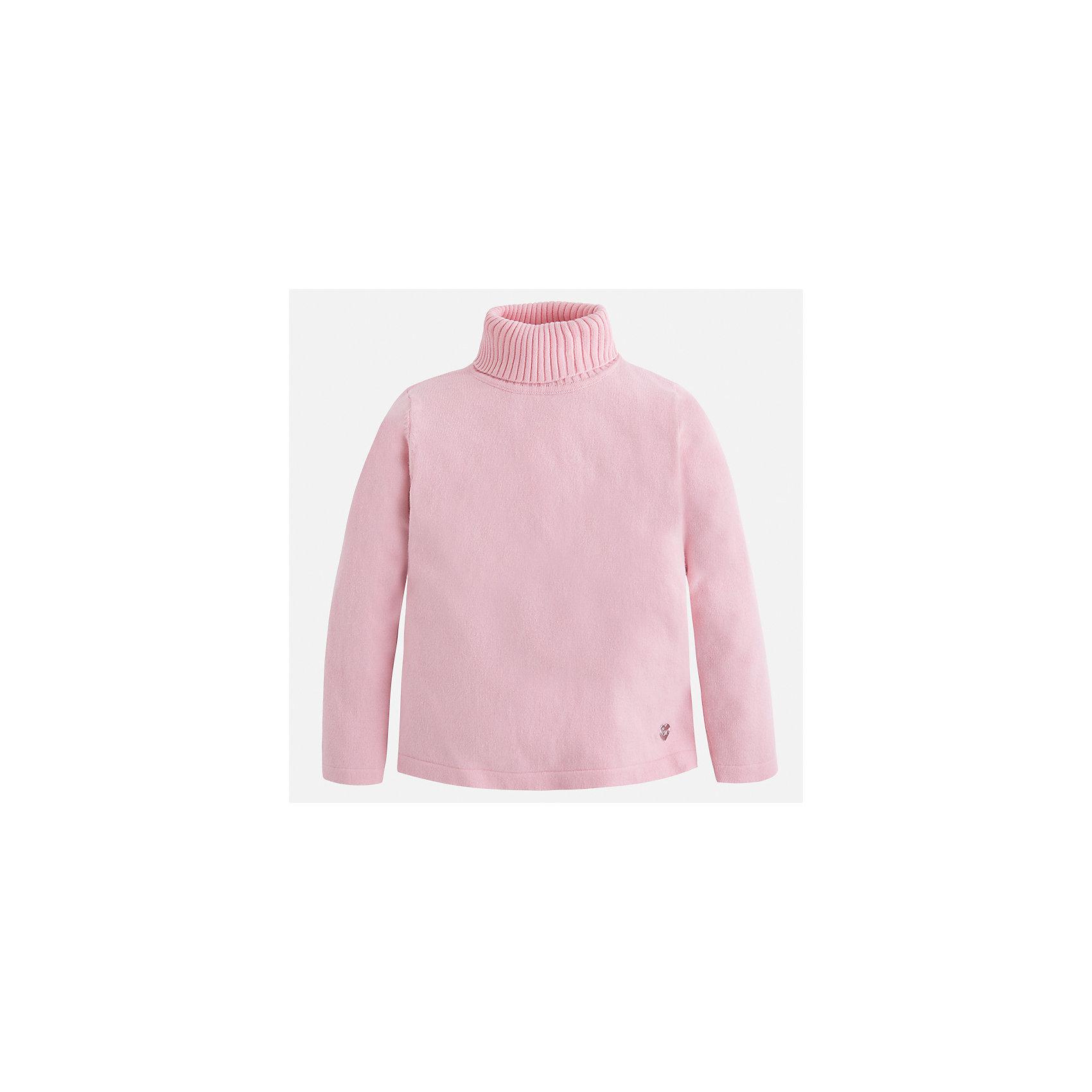 Водолазка Mayoral для девочкиВодолазки<br>Характеристики товара:<br><br>• цвет: розовый<br>• состав ткани: 80% хлопок, 17% полиамид, 3% эластан<br>• сезон: демисезон<br>• особенности: высокий ворот<br>• длинные рукава<br>• страна бренда: Испания<br>• страна изготовитель: Индия<br><br>Детский свитер сделан из дышащего приятного на ощупь материала. Благодаря продуманному крою детского свитера создаются комфортные условия для тела. Свитер с высоким воротом для девочки отличается стильным продуманным дизайном.<br><br>Свитер для девочки Mayoral (Майорал) можно купить в нашем интернет-магазине.<br><br>Ширина мм: 190<br>Глубина мм: 74<br>Высота мм: 229<br>Вес г: 236<br>Цвет: розовый<br>Возраст от месяцев: 84<br>Возраст до месяцев: 96<br>Пол: Женский<br>Возраст: Детский<br>Размер: 128,134,122,116,110,104,98,92<br>SKU: 6919892