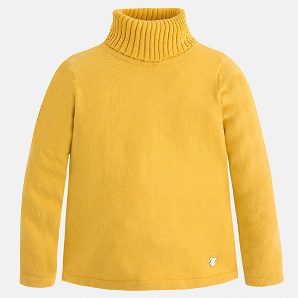 Водолазка Mayoral для девочкиВодолазки<br>Характеристики товара:<br><br>• цвет: желтый<br>• состав ткани: 80% хлопок, 17% полиамид, 3% эластан<br>• сезон: демисезон<br>• особенности: высокий ворот<br>• длинные рукава<br>• страна бренда: Испания<br>• страна изготовитель: Индия<br><br>Этот свитер для девочки Mayoral удобно сидит по фигуре. Стильный детский свитер сделан из приятного на ощупь материала. Отличный способ обеспечить ребенку комфорт и аккуратный внешний вид - надеть детский свитер от Mayoral. <br><br>Свитер для девочки Mayoral (Майорал) можно купить в нашем интернет-магазине.<br><br>Ширина мм: 190<br>Глубина мм: 74<br>Высота мм: 229<br>Вес г: 236<br>Цвет: желтый<br>Возраст от месяцев: 96<br>Возраст до месяцев: 108<br>Пол: Женский<br>Возраст: Детский<br>Размер: 134,104,128,122,116,110<br>SKU: 6919901