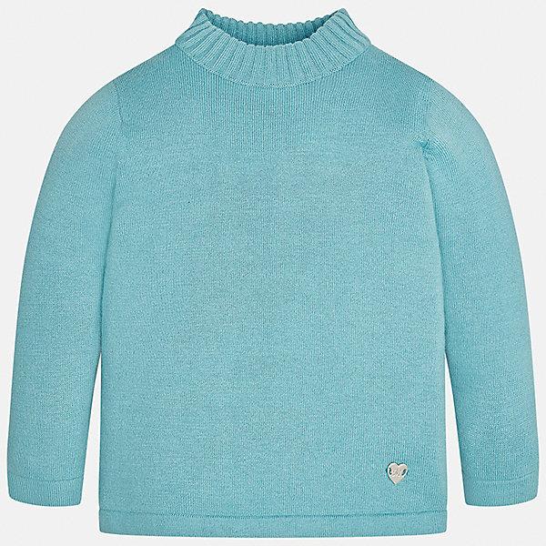 Водолазка Mayoral для девочкиВодолазки<br>Характеристики товара:<br><br>• цвет: серый<br>• состав ткани: 80% хлопок, 17% полиамид, 3% эластан<br>• сезон: демисезон<br>• особенности: однотонная<br>• длинные рукава<br>• страна бренда: Испания<br>• страна изготовитель: Индия<br><br>Легкий свитер для девочки от Майорал подарит ребенку комфорт и тепло. Детский свитер отличается модным и продуманным дизайном. В однотонном свитере для девочки от испанской компании Майорал ребенок будет выглядеть модно, а чувствовать себя - комфортно. <br><br>Свитер для девочки Mayoral (Майорал) можно купить в нашем интернет-магазине.<br>Ширина мм: 230; Глубина мм: 40; Высота мм: 220; Вес г: 250; Цвет: бирюзовый; Возраст от месяцев: 6; Возраст до месяцев: 9; Пол: Женский; Возраст: Детский; Размер: 74,98,92,86,80; SKU: 6919962;
