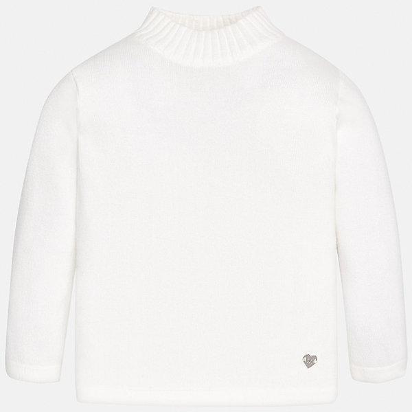 Водолазка Mayoral для девочкиТолстовки, свитера, кардиганы<br>Характеристики товара:<br><br>• цвет: белый<br>• состав ткани: 80% хлопок, 17% полиамид, 3% эластан<br>• сезон: демисезон<br>• особенности: однотонная<br>• длинные рукава<br>• страна бренда: Испания<br>• страна изготовитель: Индия<br><br>Белый детский свитер сделан из дышащего приятного на ощупь материала. Благодаря продуманному крою детского свитера создаются комфортные условия для тела. Свитер для девочки отличается лаконичным кроем.<br><br>Свитер для девочки Mayoral (Майорал) можно купить в нашем интернет-магазине.<br>Ширина мм: 230; Глубина мм: 40; Высота мм: 220; Вес г: 250; Цвет: бежевый; Возраст от месяцев: 24; Возраст до месяцев: 36; Пол: Женский; Возраст: Детский; Размер: 98,74,80,86,92; SKU: 6919968;