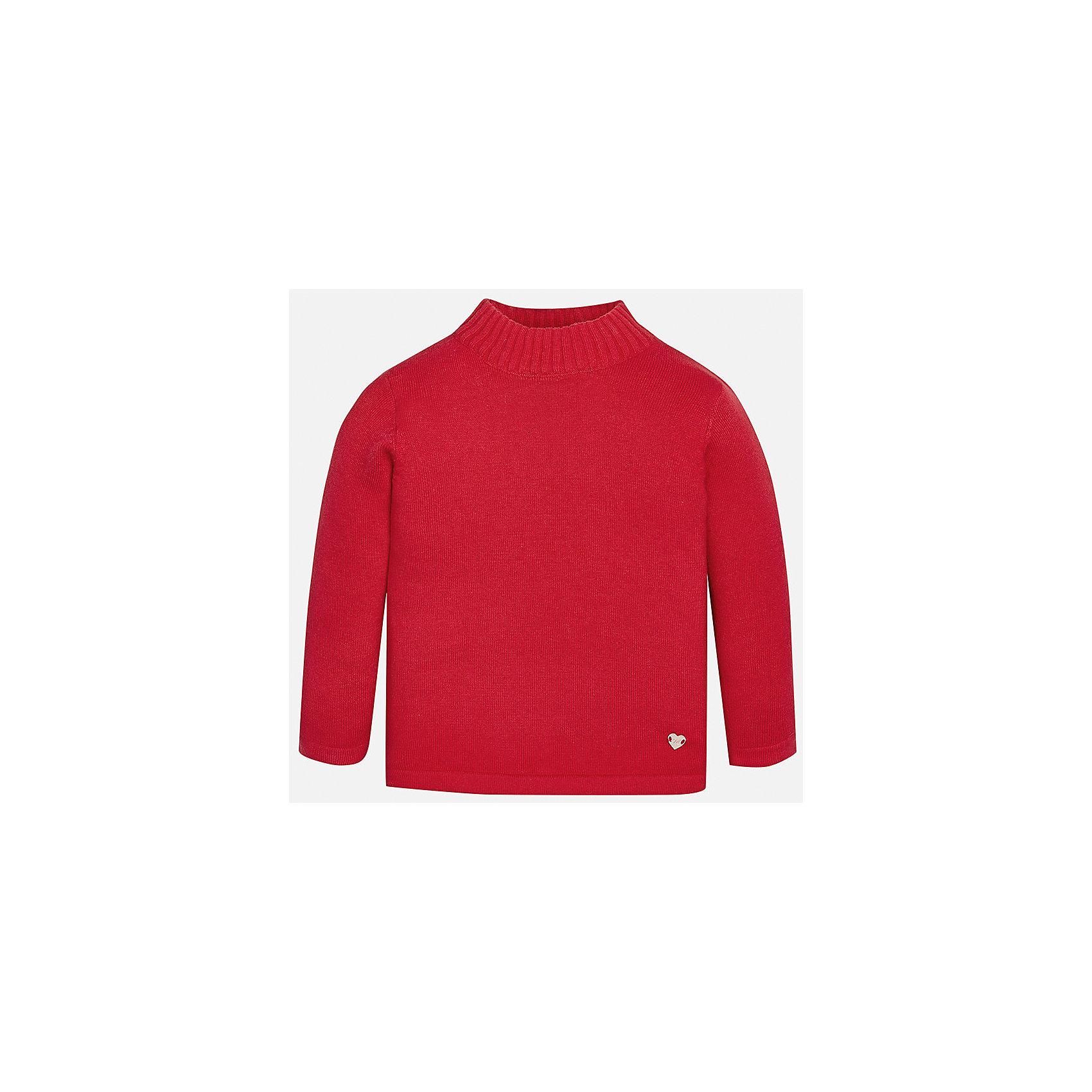 Водолазка Mayoral для девочкиВодолазки<br>Характеристики товара:<br><br>• цвет: красный<br>• состав ткани: 80% хлопок, 17% полиамид, 3% эластан<br>• сезон: демисезон<br>• особенности: однотонная<br>• длинные рукава<br>• страна бренда: Испания<br>• страна изготовитель: Индия<br><br>Яркий свитер для девочки от Майорал подарит ребенку комфорт и тепло. Детский свитер отличается модным и продуманным дизайном. В однотонном свитере для девочки от испанской компании Майорал ребенок будет выглядеть модно, а чувствовать себя - комфортно. <br><br>Свитер для девочки Mayoral (Майорал) можно купить в нашем интернет-магазине.<br><br>Ширина мм: 230<br>Глубина мм: 40<br>Высота мм: 220<br>Вес г: 250<br>Цвет: красный<br>Возраст от месяцев: 24<br>Возраст до месяцев: 36<br>Пол: Женский<br>Возраст: Детский<br>Размер: 98,74,80,86,92<br>SKU: 6919980