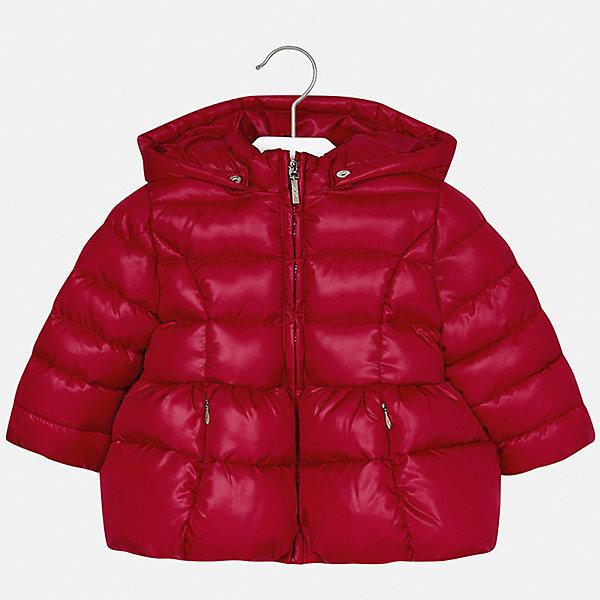 Куртка Mayoral для девочкиВерхняя одежда<br>Характеристики товара:<br><br>• цвет: красный<br>• состав ткани: 100% полиэстер<br>• подкладка: 100% полиэстер<br>• утеплитель: 100% полиэстер<br>• сезон: демисезон<br>• температурный режим: от -10 до +10<br>• особенности куртки: дутая, с капюшоном<br>• капюшон: съемный, с рюшами<br>• застежка: молния<br>• страна бренда: Испания<br>• страна изготовитель: Индия<br><br>Детская куртка подойдет для прохладной погоды и небольшого мороза. Благодаря качественной ткани детской куртки для девочки создаются комфортные условия для тела. Стильная девочки для девочки отличается стильным продуманным дизайном.<br><br>Куртку для девочки Mayoral (Майорал) можно купить в нашем интернет-магазине.<br>Ширина мм: 356; Глубина мм: 10; Высота мм: 245; Вес г: 519; Цвет: красный; Возраст от месяцев: 12; Возраст до месяцев: 15; Пол: Женский; Возраст: Детский; Размер: 80,98,86,92; SKU: 6920064;