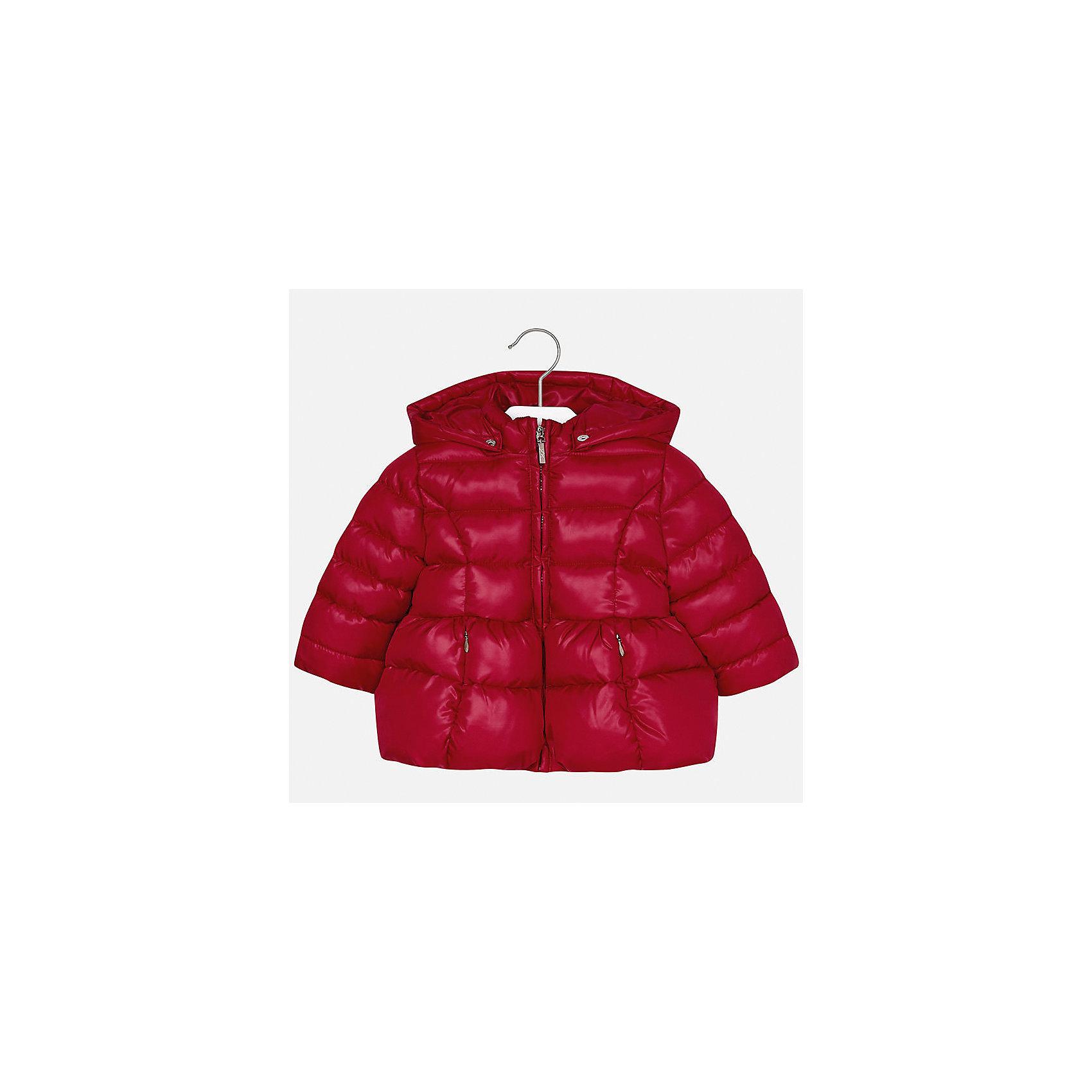 Куртка Mayoral для девочкиВерхняя одежда<br>Характеристики товара:<br><br>• цвет: красный<br>• состав ткани: 100% полиэстер<br>• подкладка: 100% полиэстер<br>• утеплитель: 100% полиэстер<br>• сезон: демисезон<br>• температурный режим: от -10 до +10<br>• особенности куртки: дутая, с капюшоном<br>• капюшон: съемный, с рюшами<br>• застежка: молния<br>• страна бренда: Испания<br>• страна изготовитель: Индия<br><br>Детская куртка подойдет для прохладной погоды и небольшого мороза. Благодаря качественной ткани детской куртки для девочки создаются комфортные условия для тела. Стильная девочки для девочки отличается стильным продуманным дизайном.<br><br>Куртку для девочки Mayoral (Майорал) можно купить в нашем интернет-магазине.<br><br>Ширина мм: 356<br>Глубина мм: 10<br>Высота мм: 245<br>Вес г: 519<br>Цвет: красный<br>Возраст от месяцев: 24<br>Возраст до месяцев: 36<br>Пол: Женский<br>Возраст: Детский<br>Размер: 98,80,86,92<br>SKU: 6920064