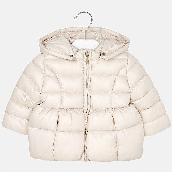 Куртка для девочки MayoralДемисезонные куртки<br>Характеристики товара:<br><br>• цвет: бежевый<br>• состав ткани: 100% полиэстер<br>• подкладка: 100% полиэстер<br>• утеплитель: 100% полиэстер<br>• сезон: демисезон<br>• температурный режим: от -10 до +10<br>• особенности куртки: дутая, с капюшоном<br>• капюшон: съемный, с рюшами<br>• застежка: молния<br>• страна бренда: Испания<br>• страна изготовитель: Индия<br><br>Эта демисезонная куртка для девочки от Майорал подарит ребенку комфорт и тепло. Детская куртка с капюшоном отличается модным и продуманным дизайном. В куртке для девочки от испанской компании Майорал ребенок будет выглядеть модно, а чувствовать себя - комфортно. <br><br>Куртку для девочки Mayoral (Майорал) можно купить в нашем интернет-магазине.<br><br>Ширина мм: 356<br>Глубина мм: 10<br>Высота мм: 245<br>Вес г: 519<br>Цвет: бежевый<br>Возраст от месяцев: 12<br>Возраст до месяцев: 15<br>Пол: Женский<br>Возраст: Детский<br>Размер: 80,98,92,86<br>SKU: 6920069