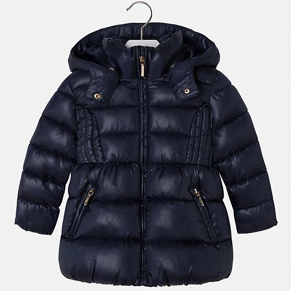 Куртка Mayoral для девочкиДемисезонные куртки<br>Характеристики товара:<br><br>• цвет: синий<br>• состав ткани: 100% полиэстер<br>• подкладка: 100% полиэстер<br>• утеплитель: 100% полиэстер<br>• сезон: демисезон<br>• температурный режим: от -10 до +10<br>• особенности куртки: дутая, с капюшоном<br>• капюшон: съемный<br>• застежка: молния<br>• страна бренда: Испания<br>• страна изготовитель: Индия<br><br>Синяя детская куртка подойдет для прохладной погоды и небольшого мороза. Благодаря качественной ткани детской куртки для девочки создаются комфортные условия для тела. Стильная девочки для девочки отличается стильным продуманным дизайном.<br><br>Куртку для девочки Mayoral (Майорал) можно купить в нашем интернет-магазине.<br><br>Ширина мм: 356<br>Глубина мм: 10<br>Высота мм: 245<br>Вес г: 519<br>Цвет: темно-синий<br>Возраст от месяцев: 18<br>Возраст до месяцев: 24<br>Пол: Женский<br>Возраст: Детский<br>Размер: 92,134,128,122,116,110,104,98<br>SKU: 6920079