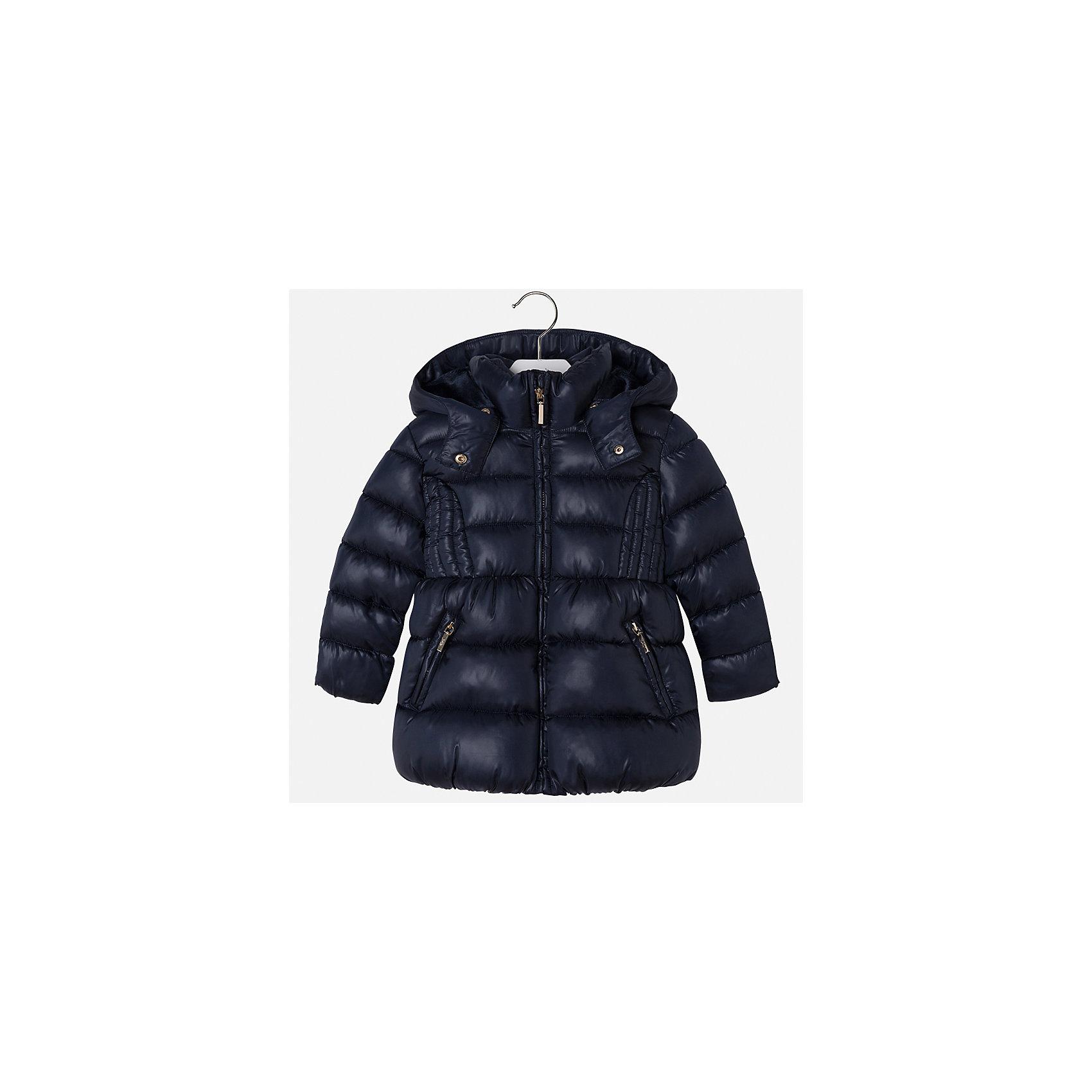 Куртка Mayoral для девочкиВерхняя одежда<br>Характеристики товара:<br><br>• цвет: синий<br>• состав ткани: 100% полиэстер<br>• подкладка: 100% полиэстер<br>• утеплитель: 100% полиэстер<br>• сезон: демисезон<br>• температурный режим: от -10 до +10<br>• особенности куртки: дутая, с капюшоном<br>• капюшон: съемный<br>• застежка: молния<br>• страна бренда: Испания<br>• страна изготовитель: Индия<br><br>Синяя детская куртка подойдет для прохладной погоды и небольшого мороза. Благодаря качественной ткани детской куртки для девочки создаются комфортные условия для тела. Стильная девочки для девочки отличается стильным продуманным дизайном.<br><br>Куртку для девочки Mayoral (Майорал) можно купить в нашем интернет-магазине.<br><br>Ширина мм: 356<br>Глубина мм: 10<br>Высота мм: 245<br>Вес г: 519<br>Цвет: темно-синий<br>Возраст от месяцев: 18<br>Возраст до месяцев: 24<br>Пол: Женский<br>Возраст: Детский<br>Размер: 92,134,128,122,116,110,104,98<br>SKU: 6920079