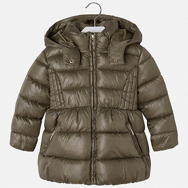 Куртка Mayoral для девочкиВерхняя одежда<br>Характеристики товара:<br><br>• цвет: зеленый<br>• состав ткани: 100% полиэстер<br>• подкладка: 100% полиэстер<br>• утеплитель: 100% полиэстер<br>• сезон: демисезон<br>• температурный режим: от -10 до +10<br>• особенности куртки: дутая, с капюшоном<br>• капюшон: съемный<br>• застежка: молния<br>• страна бренда: Испания<br>• страна изготовитель: Индия<br><br>Модная демисезонная куртка для девочки от Майорал подарит ребенку комфорт и тепло. Детская куртка с капюшоном отличается модным и продуманным дизайном. В куртке для девочки от испанской компании Майорал ребенок будет выглядеть модно, а чувствовать себя - комфортно. <br><br>Куртку для девочки Mayoral (Майорал) можно купить в нашем интернет-магазине.<br>Ширина мм: 356; Глубина мм: 10; Высота мм: 245; Вес г: 519; Цвет: зеленый; Возраст от месяцев: 18; Возраст до месяцев: 24; Пол: Женский; Возраст: Детский; Размер: 92,134,128,122,116,110,104,98; SKU: 6920088;