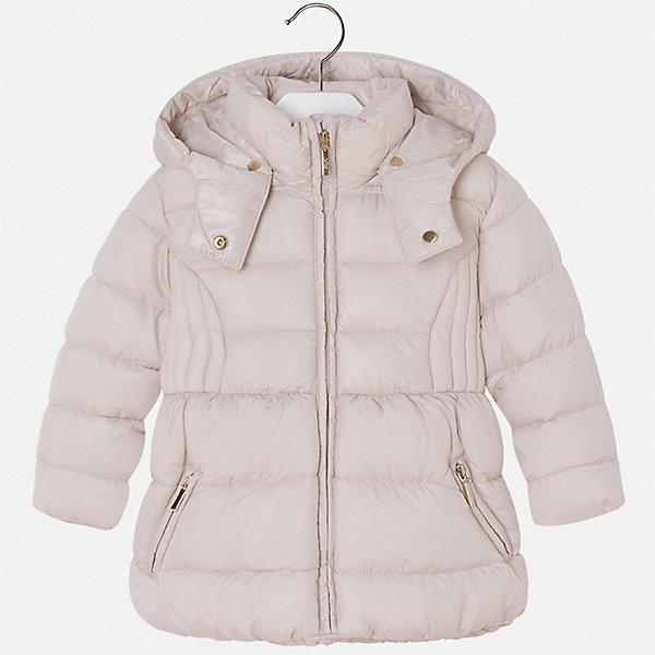 Куртка для девочки MayoralВерхняя одежда<br>Характеристики товара:<br><br>• цвет: бежевый<br>• состав ткани: 100% полиэстер<br>• подкладка: 100% полиэстер<br>• утеплитель: 100% полиэстер<br>• сезон: демисезон<br>• температурный режим: от -10 до +10<br>• особенности куртки: дутая, с капюшоном<br>• капюшон: съемный<br>• застежка: молния<br>• страна бренда: Испания<br>• страна изготовитель: Индия<br><br>Теплая демисезонная детская куртка для девочки подойдет для переменной погоды. Отличный способ обеспечить ребенку комфорт - надеть теплую куртку от Mayoral. Детская куртка сшита из легкого материала. Куртка для девочки Mayoral дополнена теплой подкладкой. <br><br>Куртку для девочки Mayoral (Майорал) можно купить в нашем интернет-магазине.<br><br>Ширина мм: 356<br>Глубина мм: 10<br>Высота мм: 245<br>Вес г: 519<br>Цвет: бежевый<br>Возраст от месяцев: 96<br>Возраст до месяцев: 108<br>Пол: Женский<br>Возраст: Детский<br>Размер: 134,116,92,98,104,110,122,128<br>SKU: 6920097
