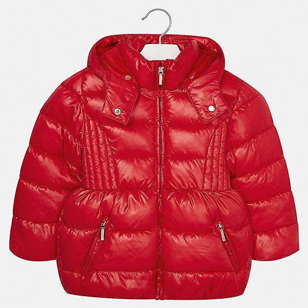 Куртка для девочки MayoralВерхняя одежда<br>Характеристики товара:<br><br>• цвет: красный<br>• состав ткани: 100% полиэстер<br>• подкладка: 100% полиэстер<br>• утеплитель: 100% полиэстер<br>• сезон: демисезон<br>• температурный режим: от -10 до +10<br>• особенности куртки: дутая, с капюшоном<br>• капюшон: съемный<br>• застежка: молния<br>• страна бренда: Испания<br>• страна изготовитель: Индия<br><br>Красная детская куртка подойдет для прохладной погоды и небольшого мороза. Благодаря качественной ткани детской куртки для девочки создаются комфортные условия для тела. Стильная девочки для девочки отличается стильным продуманным дизайном.<br><br>Куртку для девочки Mayoral (Майорал) можно купить в нашем интернет-магазине.<br><br>Ширина мм: 356<br>Глубина мм: 10<br>Высота мм: 245<br>Вес г: 519<br>Цвет: красный<br>Возраст от месяцев: 18<br>Возраст до месяцев: 24<br>Пол: Женский<br>Возраст: Детский<br>Размер: 92,134,128,122,116,110,104,98<br>SKU: 6920106