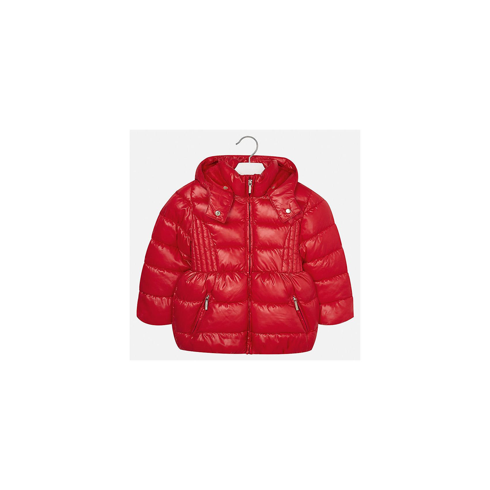 Куртка для девочки MayoralДемисезонные куртки<br>Характеристики товара:<br><br>• цвет: красный<br>• состав ткани: 100% полиэстер<br>• подкладка: 100% полиэстер<br>• утеплитель: 100% полиэстер<br>• сезон: демисезон<br>• температурный режим: от -10 до +10<br>• особенности куртки: дутая, с капюшоном<br>• капюшон: съемный<br>• застежка: молния<br>• страна бренда: Испания<br>• страна изготовитель: Индия<br><br>Красная детская куртка подойдет для прохладной погоды и небольшого мороза. Благодаря качественной ткани детской куртки для девочки создаются комфортные условия для тела. Стильная девочки для девочки отличается стильным продуманным дизайном.<br><br>Куртку для девочки Mayoral (Майорал) можно купить в нашем интернет-магазине.<br><br>Ширина мм: 356<br>Глубина мм: 10<br>Высота мм: 245<br>Вес г: 519<br>Цвет: красный<br>Возраст от месяцев: 24<br>Возраст до месяцев: 36<br>Пол: Женский<br>Возраст: Детский<br>Размер: 98,104,110,116,122,128,134,92<br>SKU: 6920106