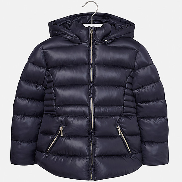 Куртка Mayoral для девочкиВерхняя одежда<br>Характеристики товара:<br><br>• цвет: синий<br>• состав ткани: 100% полиэстер<br>• подкладка: 100% полиэстер<br>• утеплитель: 100% полиэстер<br>• сезон: демисезон<br>• температурный режим: от -10 до +10<br>• особенности куртки: дутая, с капюшоном<br>• капюшон: съемный<br>• застежка: молния<br>• страна бренда: Испания<br>• страна изготовитель: Индия<br><br>Темная демисезонная куртка для девочки от Майорал подарит ребенку комфорт и тепло. Детская куртка с капюшоном отличается модным и продуманным дизайном. В куртке для девочки от испанской компании Майорал ребенок будет выглядеть модно. <br><br>Куртку для девочки Mayoral (Майорал) можно купить в нашем интернет-магазине.<br>Ширина мм: 356; Глубина мм: 10; Высота мм: 245; Вес г: 519; Цвет: темно-синий; Возраст от месяцев: 96; Возраст до месяцев: 108; Пол: Женский; Возраст: Детский; Размер: 128/134,170,164,158,152,140; SKU: 6920115;
