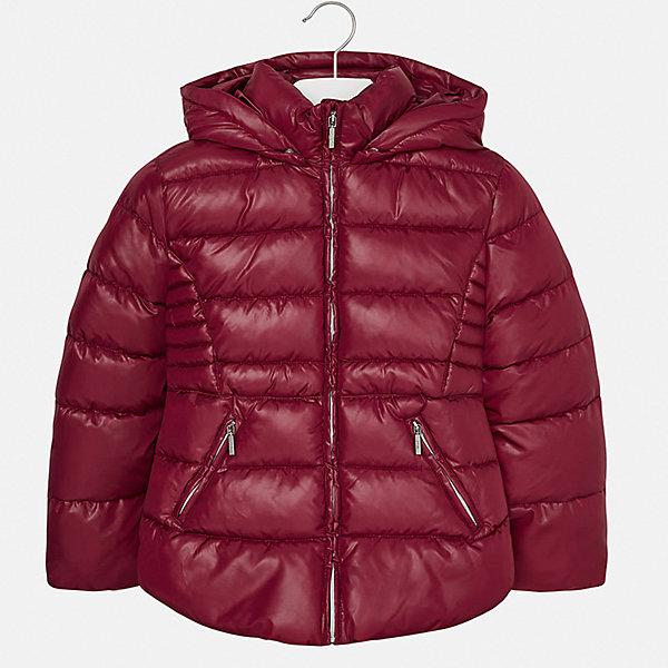 Куртка для девочки MayoralДемисезонные куртки<br>Характеристики товара:<br><br>• цвет: красный<br>• состав ткани: 100% полиэстер<br>• подкладка: 100% полиэстер<br>• утеплитель: 100% полиэстер<br>• сезон: демисезон<br>• температурный режим: от -10 до +10<br>• особенности куртки: дутая, с капюшоном<br>• капюшон: съемный<br>• застежка: молния<br>• страна бренда: Испания<br>• страна изготовитель: Индия<br><br>Красная демисезонная детская куртка для девочки подойдет для переменной погоды. Отличный способ обеспечить ребенку комфорт - надеть теплую куртку от Mayoral. Детская куртка сшита из легкого материала. Куртка для девочки Mayoral дополнена теплой подкладкой. <br><br>Куртку для девочки Mayoral (Майорал) можно купить в нашем интернет-магазине.<br><br>Ширина мм: 356<br>Глубина мм: 10<br>Высота мм: 245<br>Вес г: 519<br>Цвет: красный<br>Возраст от месяцев: 96<br>Возраст до месяцев: 108<br>Пол: Женский<br>Возраст: Детский<br>Размер: 128/134,170,164,158,152,140<br>SKU: 6920122