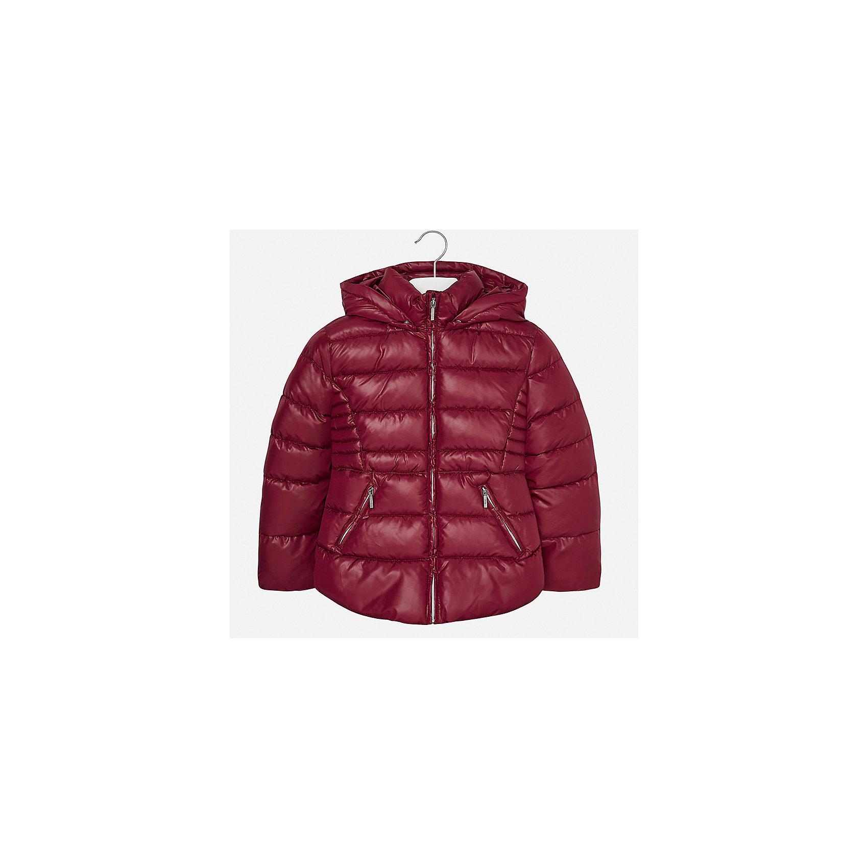 Куртка для девочки MayoralДемисезонные куртки<br>Характеристики товара:<br><br>• цвет: красный<br>• состав ткани: 100% полиэстер<br>• подкладка: 100% полиэстер<br>• утеплитель: 100% полиэстер<br>• сезон: демисезон<br>• температурный режим: от -10 до +10<br>• особенности куртки: дутая, с капюшоном<br>• капюшон: съемный<br>• застежка: молния<br>• страна бренда: Испания<br>• страна изготовитель: Индия<br><br>Красная демисезонная детская куртка для девочки подойдет для переменной погоды. Отличный способ обеспечить ребенку комфорт - надеть теплую куртку от Mayoral. Детская куртка сшита из легкого материала. Куртка для девочки Mayoral дополнена теплой подкладкой. <br><br>Куртку для девочки Mayoral (Майорал) можно купить в нашем интернет-магазине.<br><br>Ширина мм: 356<br>Глубина мм: 10<br>Высота мм: 245<br>Вес г: 519<br>Цвет: красный<br>Возраст от месяцев: 168<br>Возраст до месяцев: 180<br>Пол: Женский<br>Возраст: Детский<br>Размер: 170,128/134,140,152,158,164<br>SKU: 6920122