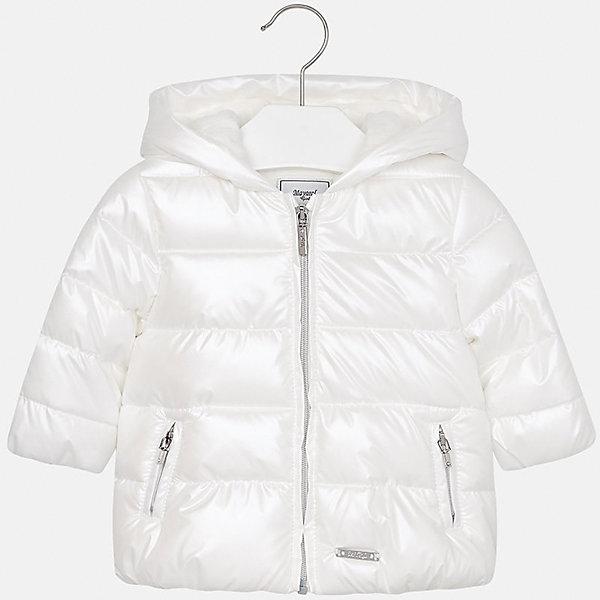 Куртка для девочки MayoralВерхняя одежда<br>Характеристики товара:<br><br>• цвет: бежевый<br>• состав ткани: 100% полиэстер<br>• подкладка: 100% полиэстер<br>• утеплитель: 100% полиэстер<br>• сезон: демисезон<br>• температурный режим: от -10 до +10<br>• особенности куртки: дутая, с капюшоном<br>• капюшон: несъемный<br>• застежка: молния<br>• страна бренда: Испания<br>• страна изготовитель: Индия<br><br>Такая утепленная демисезонная детская куртка подойдет для переменной погоды. Отличный способ обеспечить ребенку комфорт - надеть теплую куртку от Mayoral. Детская куртка сшита из легкого материала. Куртка для девочки Mayoral дополнена теплой подкладкой. <br><br>Куртку для девочки Mayoral (Майорал) можно купить в нашем интернет-магазине.<br><br>Ширина мм: 356<br>Глубина мм: 10<br>Высота мм: 245<br>Вес г: 519<br>Цвет: белый<br>Возраст от месяцев: 12<br>Возраст до месяцев: 15<br>Пол: Женский<br>Возраст: Детский<br>Размер: 80,98,92,86<br>SKU: 6920306
