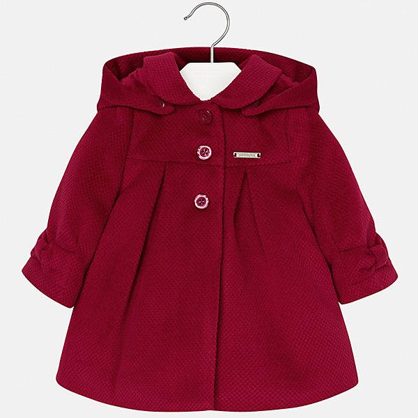 Пальто Mayoral для девочкиВерхняя одежда<br>Характеристики товара:<br><br>• цвет: красный<br>• состав ткани верха: 90% полиэстер, 10% вискоза<br>• подкладка: 100% полиэстер<br>• утеплитель: 100% полиэстер<br>• сезон: демисезон<br>• температурный режим: от -10 до +10<br>• особенности пальто: с капюшоном<br>• капюшон: без меха, съемный<br>• застежка: пуговицы<br>• страна бренда: Испания<br>• страна изготовитель: Индия<br><br>Красное пальто для девочки от Майорал подарит комфорт. Эффектная детская верхняя одежда от Mayoral отличается модным силуэтом и актуальной расцветкой. <br>Для производства этого детского пальто бренд Mayoral использует только качественную фурнитуру и материалы. <br><br>Пальто для девочки Mayoral (Майорал) можно купить в нашем интернет-магазине.<br><br>Ширина мм: 356<br>Глубина мм: 10<br>Высота мм: 245<br>Вес г: 519<br>Цвет: красный<br>Возраст от месяцев: 12<br>Возраст до месяцев: 15<br>Пол: Женский<br>Возраст: Детский<br>Размер: 80,98,92,86<br>SKU: 6920371