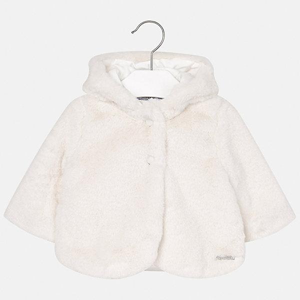 Пальто Mayoral для девочкиВерхняя одежда<br>Характеристики товара:<br><br>• цвет: белый<br>• состав ткани верха: 50% полиэстер, 50% хлопок<br>• подкладка: 100% полиэстер<br>• сезон: демисезон<br>• температурный режим: от 0 до +10<br>• особенности пальто: с капюшоном<br>• капюшон: несъемный<br>• застежка: пуговицы<br>• страна бренда: Испания<br>• страна изготовитель: Индия<br><br>Такое пальто для девочки сможет обеспечить тепло в период межсезонья. Детское пальто сделано из качественного материала, есть подкладка. Меховое е пальто для девочки от Майорал - это пример отличного вкуса и высокого качества. <br><br>Пальто для девочки Mayoral (Майорал) можно купить в нашем интернет-магазине.<br>Ширина мм: 356; Глубина мм: 10; Высота мм: 245; Вес г: 519; Цвет: белый; Возраст от месяцев: 6; Возраст до месяцев: 9; Пол: Женский; Возраст: Детский; Размер: 74,98,92,86,80; SKU: 6920376;