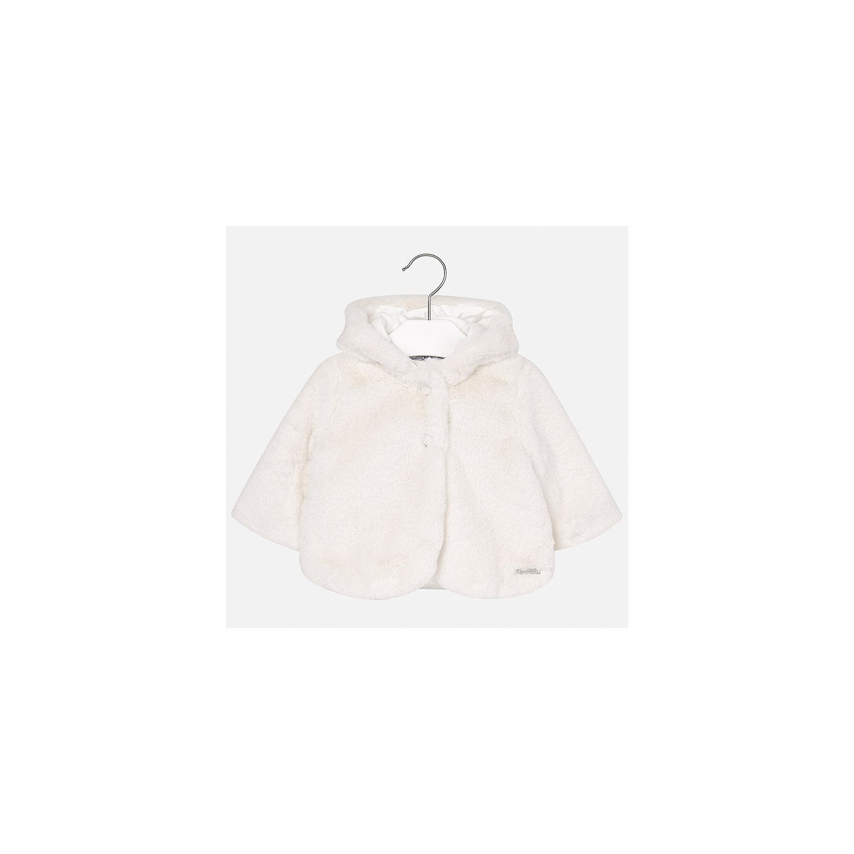 Пальто Mayoral для девочкиВерхняя одежда<br>Характеристики товара:<br><br>• цвет: белый<br>• состав ткани верха: 50% полиэстер, 50% хлопок<br>• подкладка: 100% полиэстер<br>• сезон: демисезон<br>• температурный режим: от 0 до +10<br>• особенности пальто: с капюшоном<br>• капюшон: несъемный<br>• застежка: пуговицы<br>• страна бренда: Испания<br>• страна изготовитель: Индия<br><br>Такое пальто для девочки сможет обеспечить тепло в период межсезонья. Детское пальто сделано из качественного материала, есть подкладка. Меховое е пальто для девочки от Майорал - это пример отличного вкуса и высокого качества. <br><br>Пальто для девочки Mayoral (Майорал) можно купить в нашем интернет-магазине.<br><br>Ширина мм: 356<br>Глубина мм: 10<br>Высота мм: 245<br>Вес г: 519<br>Цвет: белый<br>Возраст от месяцев: 24<br>Возраст до месяцев: 36<br>Пол: Женский<br>Возраст: Детский<br>Размер: 98,74,80,86,92<br>SKU: 6920376