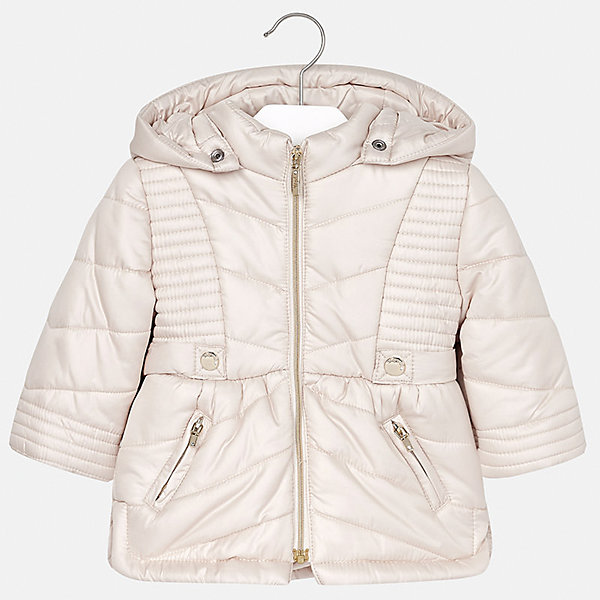 Куртка Mayoral для девочкиВерхняя одежда<br>Характеристики товара:<br><br>• цвет: бежевая<br>• состав ткани: 100% полиэстер<br>• подкладка: 100% полиэстер<br>• утеплитель: 100% полиэстер<br>• сезон: демисезон<br>• температурный режим: от -10 до +10<br>• особенности куртки: двусторонняя, меховая<br>• капюшон: несъемный<br>• застежка: молния<br>• страна бренда: Испания<br>• страна изготовитель: Индия<br><br>Бежевая двусторонняя куртка для девочки сшита из легкого, но теплого на ощупь материала. Эта куртка для девочки отличается стильным дизайном. Качество продукции Майорал неизменно очень высокое. Детская двусторонняя куртка от Mayoral с одной стороны выполнена из искусственного меха.<br><br>Куртку для девочки Mayoral (Майорал) можно купить в нашем интернет-магазине.<br><br>Ширина мм: 356<br>Глубина мм: 10<br>Высота мм: 245<br>Вес г: 519<br>Цвет: бежевый<br>Возраст от месяцев: 24<br>Возраст до месяцев: 36<br>Пол: Женский<br>Возраст: Детский<br>Размер: 98,80,86,92<br>SKU: 6920387