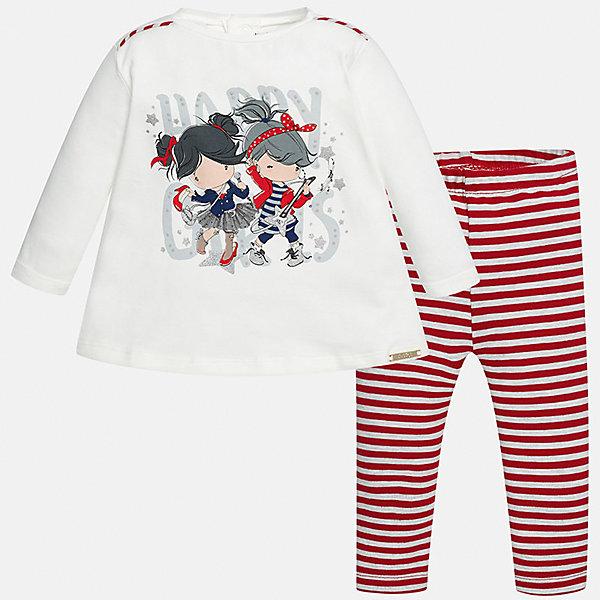 Купить Комплект: блузка и леггинсы Mayoral для девочки, Индия, красный, 74, 98, 92, 86, 80, Женский
