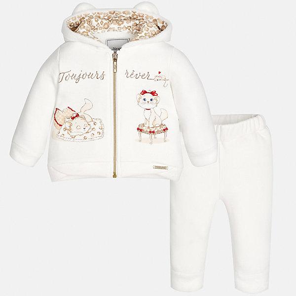 Спортивный костюм Mayoral для девочкиКомплекты<br>Характеристики товара:<br><br>• цвет: бежевый<br>• состав ткани: 65% хлопок, 30% полиэстер, 5% эластан<br>• комплект: курточка и брюки<br>• сезон: демисезон<br>• особенности: спортивный стиль<br>• длинные рукава<br>• застежка: молния<br>• пояс: резинка<br>• страна бренда: Испания<br>• страна изготовитель: Индия<br><br>В симпатичном детском спортивном костюме от испанской компании Майорал ребенок будет выглядеть модно, а чувствовать себя - комфортно. Спортивный костюм для ребенка сделан материала с преобладанием натурального хлопка в составе. Этот комплект для занятий спортом хорошо сидит по фигуре.<br><br>Спортивный костюм для девочки Mayoral (Майорал) можно купить в нашем интернет-магазине.<br><br>Ширина мм: 247<br>Глубина мм: 16<br>Высота мм: 140<br>Вес г: 225<br>Цвет: бежевый<br>Возраст от месяцев: 18<br>Возраст до месяцев: 24<br>Пол: Женский<br>Возраст: Детский<br>Размер: 92,80,98,86<br>SKU: 6920649