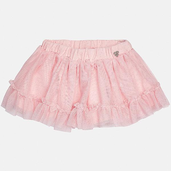 Юбка для девочки MayoralЮбки<br>Характеристики товара:<br><br>• цвет: розовый<br>• состав ткани верха: 100% полиэстер<br>• подкладка: 95% хлопок, 5% эластан<br>• сезон: демисезон<br>• особенности: нарядная<br>• пояс: резинка<br>• страна бренда: Испания<br>• страна изготовитель: Индия<br><br>Эта детская юбка от известного бренда Майорал выглядит аккуратно и стильно. Пышная детская юбка поможет создать оригинальный наряд. Юбка для девочки декорирована блестками. <br><br>Юбку для девочки Mayoral (Майорал) можно купить в нашем интернет-магазине.<br>Ширина мм: 207; Глубина мм: 10; Высота мм: 189; Вес г: 183; Цвет: розовый; Возраст от месяцев: 24; Возраст до месяцев: 36; Пол: Женский; Возраст: Детский; Размер: 98,80,92,86; SKU: 6920664;