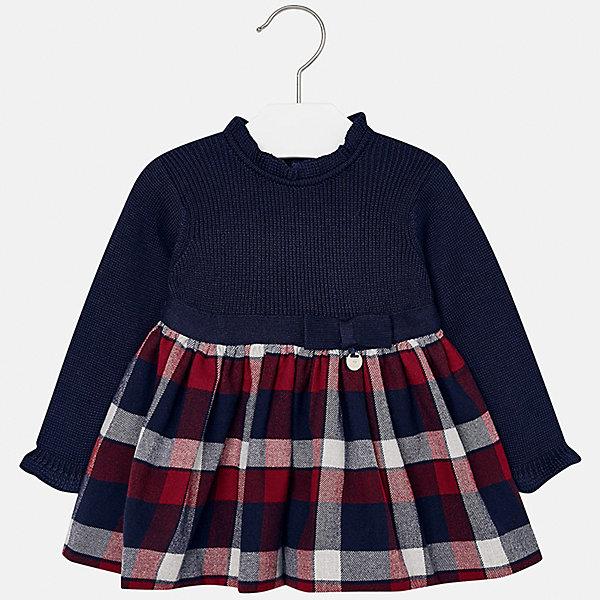 Платье для девочки MayoralПлатья и сарафаны<br>Характеристики товара:<br><br>• цвет: синий<br>• состав ткани: 50% хлопок, 30% полиэстер, 20% акрил, подкладка - 100% хлопок<br>• сезон: демисезон<br>• особенности: бант на поясе<br>• застежка: пуговицы<br>• длинные рукава<br>• страна бренда: Испания<br>• страна изготовитель: Индия<br><br>Детское платье отличается модным и продуманным дизайном. В платье для девочки от испанской компании Майорал ребенок будет выглядеть модно, а чувствовать себя - комфортно. Красивое платье для девочки от Майорал подарит ребенку комфорт. <br><br>Платье для девочки Mayoral (Майорал) можно купить в нашем интернет-магазине.<br><br>Ширина мм: 236<br>Глубина мм: 16<br>Высота мм: 184<br>Вес г: 177<br>Цвет: синий/красный<br>Возраст от месяцев: 6<br>Возраст до месяцев: 9<br>Пол: Женский<br>Возраст: Детский<br>Размер: 74,98,92,86,80<br>SKU: 6920675