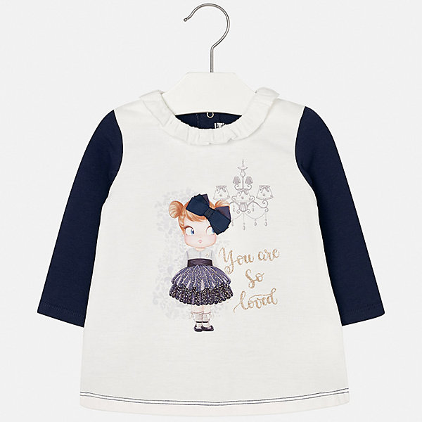 Платье для девочки MayoralОсенне-зимние платья и сарафаны<br>Характеристики товара:<br><br>• цвет: синий<br>• состав ткани: 50% полиэстер, 45% хлопок, 5% эластан<br>• сезон: демисезон<br>• особенности: принт с блестками<br>• застежка: кнопки<br>• длинные рукава<br>• страна бренда: Испания<br>• страна изготовитель: Индия<br><br>Модное детское платье сделано из дышащего приятного на ощупь материала. Благодаря качественной ткани детского платья для девочки создаются комфортные условия для тела. Платье для девочки отличается стильным продуманным дизайном.<br><br>Платье для девочки Mayoral (Майорал) можно купить в нашем интернет-магазине.<br><br>Ширина мм: 236<br>Глубина мм: 16<br>Высота мм: 184<br>Вес г: 177<br>Цвет: синий<br>Возраст от месяцев: 6<br>Возраст до месяцев: 9<br>Пол: Женский<br>Возраст: Детский<br>Размер: 74,98,92,86,80<br>SKU: 6920687