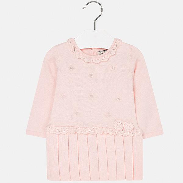 Платье для девочки MayoralОсенне-зимние платья и сарафаны<br>Характеристики товара:<br><br>• цвет: розовый<br>• состав ткани: 60% хлопок, 30% полиамид, 10% ангора<br>• сезон: демисезон<br>• особенности: стразы<br>• застежка: пуговицы<br>• длинные рукава<br>• страна бренда: Испания<br>• страна изготовитель: Индия<br><br>Детское платье отличается модным и продуманным дизайном. В платье для девочки от испанской компании Майорал ребенок будет выглядеть модно, а чувствовать себя - комфортно. Красивое платье для девочки от Майорал подарит ребенку комфорт. <br><br>Платье для девочки Mayoral (Майорал) можно купить в нашем интернет-магазине.<br>Ширина мм: 236; Глубина мм: 16; Высота мм: 184; Вес г: 177; Цвет: розовый; Возраст от месяцев: 12; Возраст до месяцев: 18; Пол: Женский; Возраст: Детский; Размер: 86,74,98,92,80; SKU: 6920723;