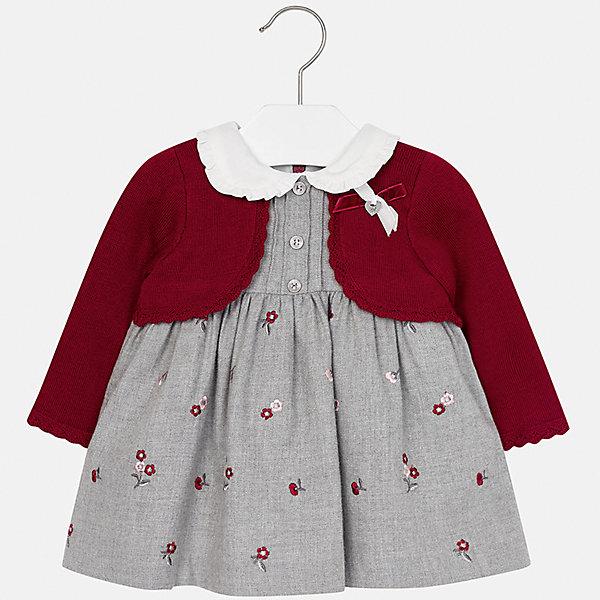 Платье для девочки MayoralОсенне-зимние платья и сарафаны<br>Характеристики товара:<br><br>• цвет: синий<br>• состав ткани: 50% хлопок, 30% вискоза, 20% акрил, подкладка - 100% хлопок<br>• сезон: демисезон<br>• особенности: имитация свитера<br>• застежка: молния<br>• длинные рукава<br>• страна бренда: Испания<br>• страна изготовитель: Индия<br><br>Оригинальное платье для девочки от Майорал подарит ребенку комфорт. В симпатичном платье для девочки от Майорал ребенок будет выглядеть модно, а чувствовать себя - комфортно. Детское платье отличается модным и продуманным дизайном. <br><br>Платье для девочки Mayoral (Майорал) можно купить в нашем интернет-магазине.<br><br>Ширина мм: 236<br>Глубина мм: 16<br>Высота мм: 184<br>Вес г: 177<br>Цвет: красный<br>Возраст от месяцев: 6<br>Возраст до месяцев: 9<br>Пол: Женский<br>Возраст: Детский<br>Размер: 74,98,80,86,92<br>SKU: 6920729