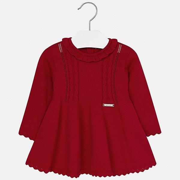 Платье Mayoral для девочкиПлатья<br>Характеристики товара:<br><br>• цвет: красный<br>• состав ткани: 60% хлопок, 30% полиамид, 10% ангора<br>• сезон: демисезон<br>• особенности: вязаный узор<br>• застежка: пуговицы<br>• длинные рукава<br>• страна бренда: Испания<br>• страна изготовитель: Индия<br><br>Детское платье сделано из дышащего приятного на ощупь материала. Благодаря качественной хлопковой пряже детского платья для девочки создаются комфортные условия для тела. Платье для девочки отличается модным дизайном.<br><br>Платье для девочки Mayoral (Майорал) можно купить в нашем интернет-магазине.<br><br>Ширина мм: 236<br>Глубина мм: 16<br>Высота мм: 184<br>Вес г: 177<br>Цвет: красный<br>Возраст от месяцев: 12<br>Возраст до месяцев: 18<br>Пол: Женский<br>Возраст: Детский<br>Размер: 86,74,98,92,80<br>SKU: 6920735