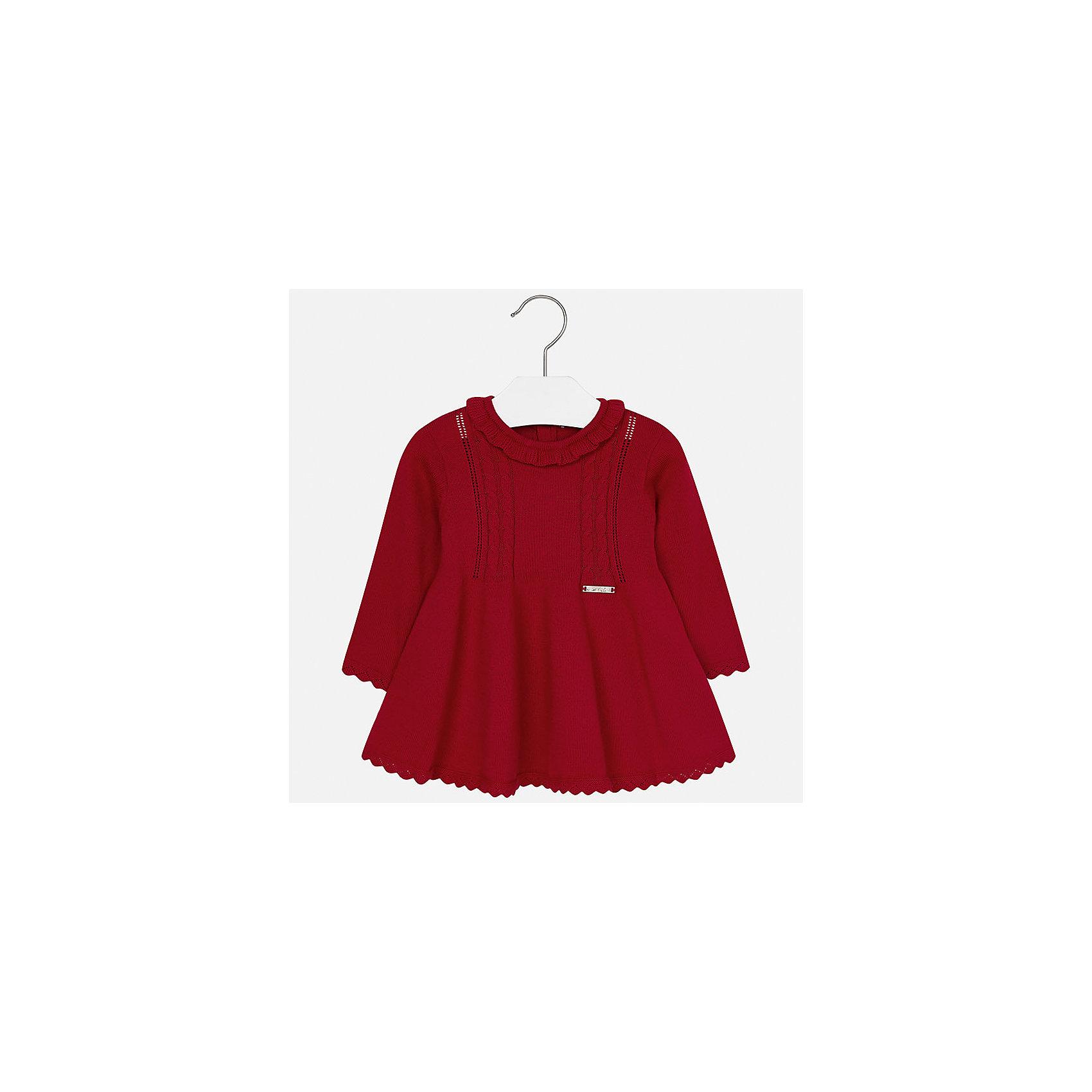 Платье Mayoral для девочкиПлатья<br>Характеристики товара:<br><br>• цвет: красный<br>• состав ткани: 60% хлопок, 30% полиамид, 10% ангора<br>• сезон: демисезон<br>• особенности: вязаный узор<br>• застежка: пуговицы<br>• длинные рукава<br>• страна бренда: Испания<br>• страна изготовитель: Индия<br><br>Детское платье сделано из дышащего приятного на ощупь материала. Благодаря качественной хлопковой пряже детского платья для девочки создаются комфортные условия для тела. Платье для девочки отличается модным дизайном.<br><br>Платье для девочки Mayoral (Майорал) можно купить в нашем интернет-магазине.<br><br>Ширина мм: 236<br>Глубина мм: 16<br>Высота мм: 184<br>Вес г: 177<br>Цвет: красный<br>Возраст от месяцев: 6<br>Возраст до месяцев: 9<br>Пол: Женский<br>Возраст: Детский<br>Размер: 74,98,80,86,92<br>SKU: 6920735