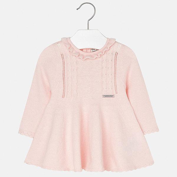 Платье для девочки MayoralПлатья и сарафаны<br>Характеристики товара:<br><br>• цвет: розовый<br>• состав ткани: 60% хлопок, 30% полиамид, 10% ангора<br>• сезон: демисезон<br>• особенности: вязаный узор<br>• застежка: пуговицы<br>• длинные рукава<br>• страна бренда: Испания<br>• страна изготовитель: Индия<br><br>Вязаное детское платье отличается модным дизайном. В платье для девочки от испанской компании Майорал ребенок будет выглядеть модно, а чувствовать себя - комфортно. Красивое платье для девочки от Майорал подарит ребенку комфорт. <br><br>Платье для девочки Mayoral (Майорал) можно купить в нашем интернет-магазине.<br><br>Ширина мм: 236<br>Глубина мм: 16<br>Высота мм: 184<br>Вес г: 177<br>Цвет: розовый<br>Возраст от месяцев: 6<br>Возраст до месяцев: 9<br>Пол: Женский<br>Возраст: Детский<br>Размер: 74,98,92,86,80<br>SKU: 6920741