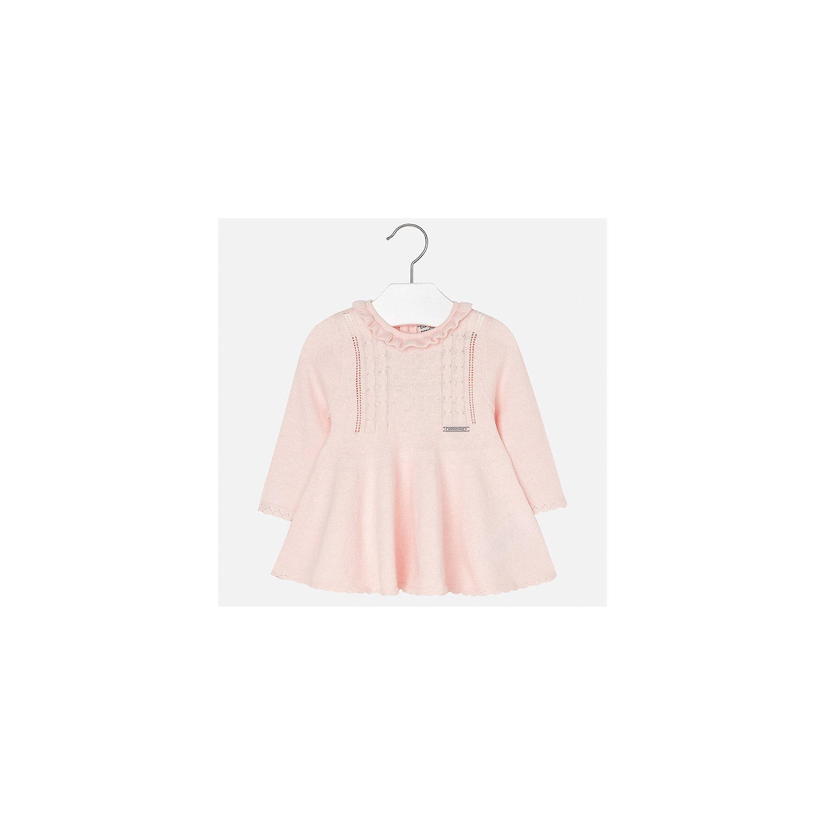 Платье для девочки MayoralОсенне-зимние платья и сарафаны<br>Характеристики товара:<br><br>• цвет: розовый<br>• состав ткани: 60% хлопок, 30% полиамид, 10% ангора<br>• сезон: демисезон<br>• особенности: вязаный узор<br>• застежка: пуговицы<br>• длинные рукава<br>• страна бренда: Испания<br>• страна изготовитель: Индия<br><br>Вязаное детское платье отличается модным дизайном. В платье для девочки от испанской компании Майорал ребенок будет выглядеть модно, а чувствовать себя - комфортно. Красивое платье для девочки от Майорал подарит ребенку комфорт. <br><br>Платье для девочки Mayoral (Майорал) можно купить в нашем интернет-магазине.<br><br>Ширина мм: 236<br>Глубина мм: 16<br>Высота мм: 184<br>Вес г: 177<br>Цвет: розовый<br>Возраст от месяцев: 24<br>Возраст до месяцев: 36<br>Пол: Женский<br>Возраст: Детский<br>Размер: 98,74,80,86,92<br>SKU: 6920741