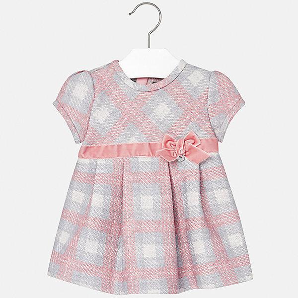 Платье Mayoral для девочкиПлатья<br>Характеристики товара:<br><br>• цвет: розовый<br>• состав ткани: 85% хлопок, 15% полиэстер<br>• сезон: демисезон<br>• особенности: бант<br>• застежка: молния<br>• короткие рукава<br>• страна бренда: Испания<br>• страна изготовитель: Индия<br><br>Это детское платье сделано из дышащего приятного на ощупь материала. Благодаря качественной ткани детского платья для девочки создаются комфортные условия для тела. Платье для девочки отличается стильным декором.<br><br>Платье для девочки Mayoral (Майорал) можно купить в нашем интернет-магазине.<br><br>Ширина мм: 236<br>Глубина мм: 16<br>Высота мм: 184<br>Вес г: 177<br>Цвет: розовый<br>Возраст от месяцев: 18<br>Возраст до месяцев: 24<br>Пол: Женский<br>Возраст: Детский<br>Размер: 92,98,74,80,86<br>SKU: 6920753