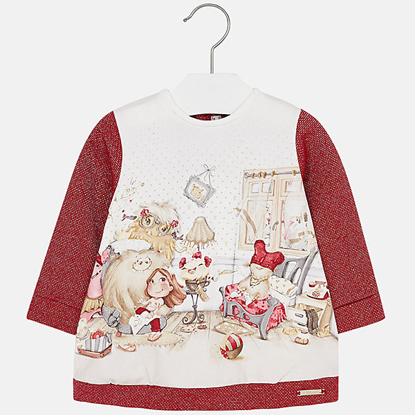 Платье для девочки MayoralПлатья и сарафаны<br>Характеристики товара:<br><br>• цвет: красный<br>• состав ткани: 65% хлопок, 25% полиэстер, 8% металлизированная нить, 2% эластан<br>• сезон: демисезон<br>• особенности: принт<br>• застежка: кнопки<br>• длинные рукава<br>• страна бренда: Испания<br>• страна изготовитель: Индия<br><br>Модное детское платье с принтом сделано из дышащего приятного на ощупь материала. Благодаря качественной ткани детского платья для девочки создаются комфортные условия для тела. Платье для девочки отличается стильным продуманным дизайном.<br><br>Платье для девочки Mayoral (Майорал) можно купить в нашем интернет-магазине.<br>Ширина мм: 236; Глубина мм: 16; Высота мм: 184; Вес г: 177; Цвет: красный; Возраст от месяцев: 6; Возраст до месяцев: 9; Пол: Женский; Возраст: Детский; Размер: 80,74,98,92,86; SKU: 6920807;