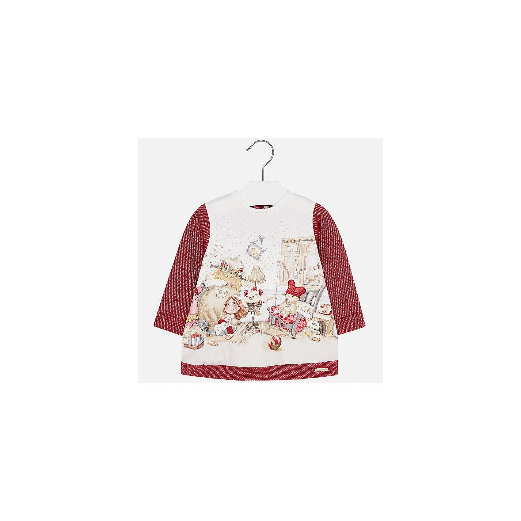 Платье для девочки MayoralОсенне-зимние платья и сарафаны<br>Характеристики товара:<br><br>• цвет: красный<br>• состав ткани: 65% хлопок, 25% полиэстер, 8% металлизированная нить, 2% эластан<br>• сезон: демисезон<br>• особенности: принт<br>• застежка: кнопки<br>• длинные рукава<br>• страна бренда: Испания<br>• страна изготовитель: Индия<br><br>Модное детское платье с принтом сделано из дышащего приятного на ощупь материала. Благодаря качественной ткани детского платья для девочки создаются комфортные условия для тела. Платье для девочки отличается стильным продуманным дизайном.<br><br>Платье для девочки Mayoral (Майорал) можно купить в нашем интернет-магазине.<br><br>Ширина мм: 236<br>Глубина мм: 16<br>Высота мм: 184<br>Вес г: 177<br>Цвет: красный<br>Возраст от месяцев: 24<br>Возраст до месяцев: 36<br>Пол: Женский<br>Возраст: Детский<br>Размер: 98,74,80,86,92<br>SKU: 6920807