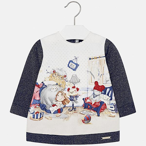 Платье для девочки MayoralОсенне-зимние платья и сарафаны<br>Характеристики товара:<br><br>• цвет: синий<br>• состав ткани: 65% хлопок, 25% полиэстер, 8% металлизированная нить, 2% эластан<br>• сезон: демисезон<br>• особенности: принт<br>• застежка: кнопки<br>• длинные рукава<br>• страна бренда: Испания<br>• страна изготовитель: Индия<br><br>Принтованное платье для девочки от Майорал подарит ребенку комфорт. В симпатичном платье для девочки от Майорал ребенок будет выглядеть модно, а чувствовать себя - комфортно. Детское платье отличается модным дизайном и принтом. <br><br>Платье для девочки Mayoral (Майорал) можно купить в нашем интернет-магазине.<br><br>Ширина мм: 236<br>Глубина мм: 16<br>Высота мм: 184<br>Вес г: 177<br>Цвет: синий<br>Возраст от месяцев: 6<br>Возраст до месяцев: 9<br>Пол: Женский<br>Возраст: Детский<br>Размер: 74,98,92,86,80<br>SKU: 6920813