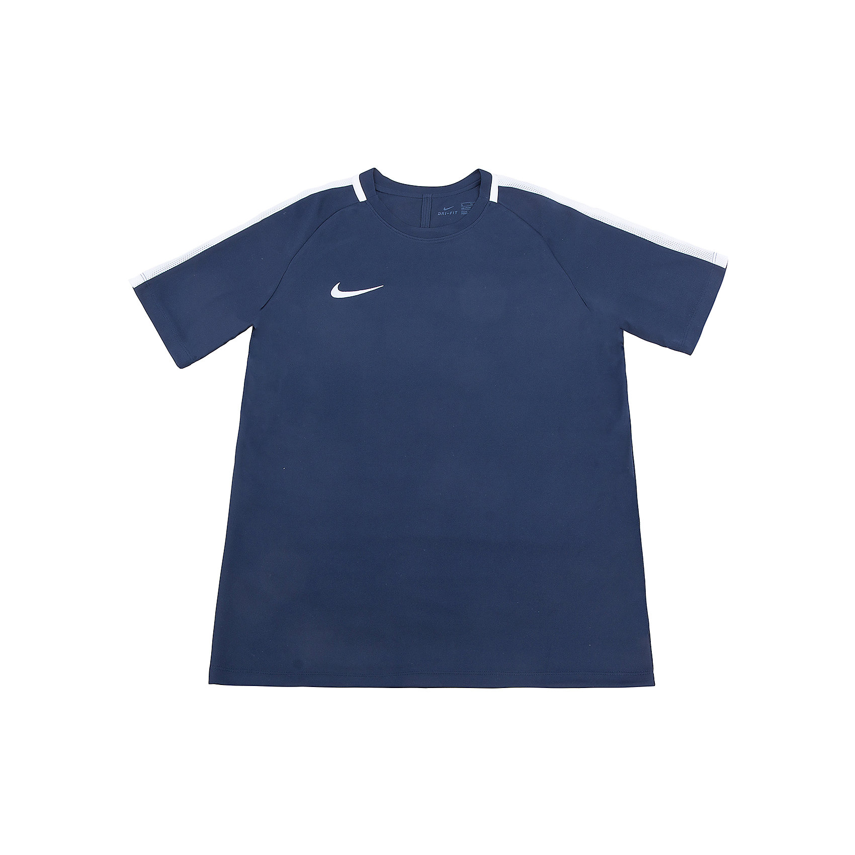 Футболка NIKEФутболки, поло и топы<br>Характеристики товара:<br><br>• цвет: синий<br>• состав ткани: 100% полиэстер<br>• сезон: лето<br>• особенности модели: спортивный стиль<br>• технология: Dri-FIT<br>• короткие рукава<br>• страна бренда: США<br>• страна изготовитель: Китай<br><br>Стильная футболка от Nike может выступать в роли тренировочной одежды. Эта модель детской футболки поможет обеспечить ребенку комфорт. Детская спортивная футболка Nike отличается актуальным для нового сезона дизайном. В синей футболке для ребенка он будет выглядеть модно, а чувствовать себя - комфортно. <br><br>Футболку Nike (Найк) можно купить в нашем интернет-магазине.<br><br>Ширина мм: 199<br>Глубина мм: 10<br>Высота мм: 161<br>Вес г: 151<br>Цвет: черный<br>Возраст от месяцев: 168<br>Возраст до месяцев: 180<br>Пол: Унисекс<br>Возраст: Детский<br>Размер: 158/170,122/128,128/134,135/140,147/158<br>SKU: 6921124